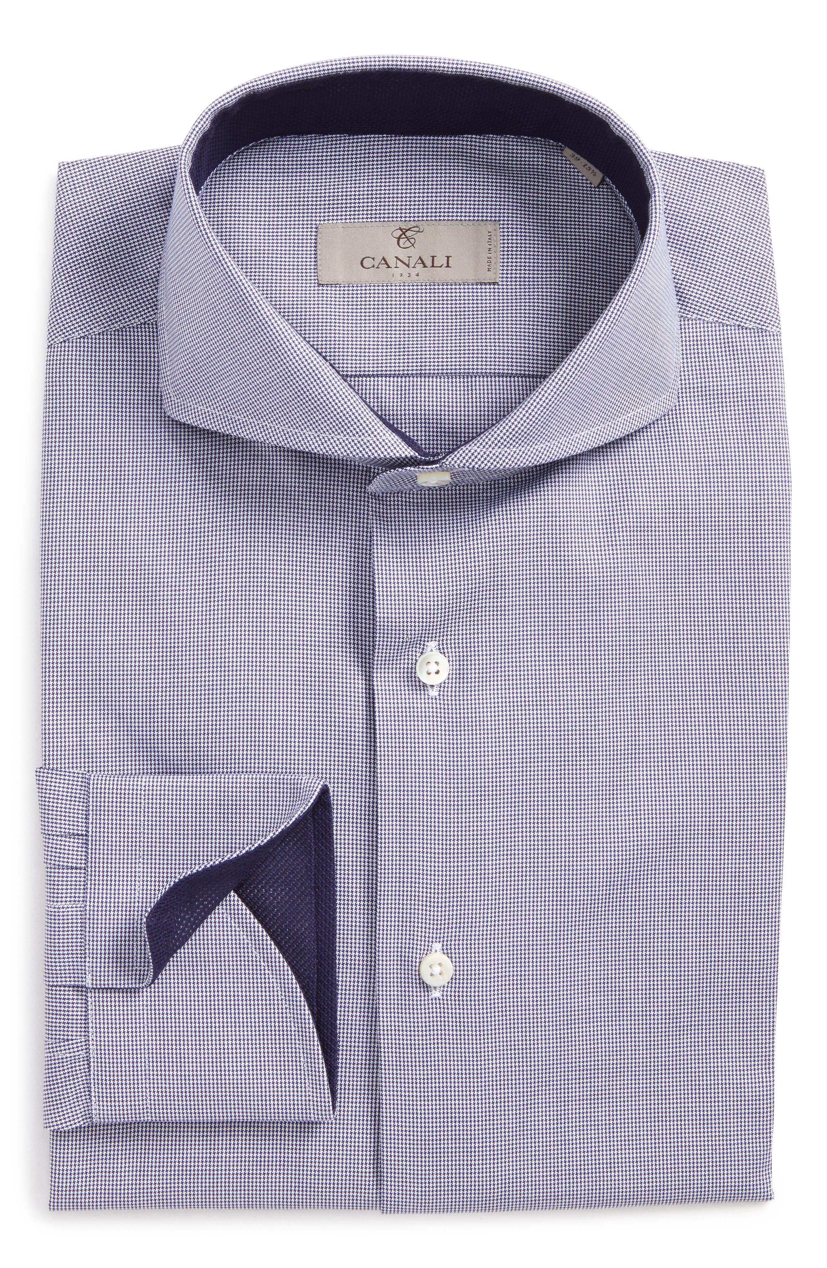Regular Fit Houndstooth Dress Shirt,                             Main thumbnail 1, color,