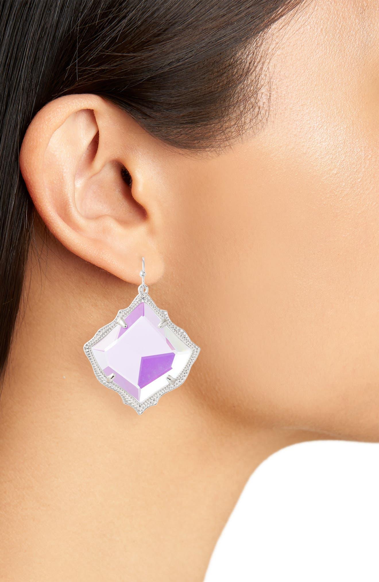 Kirsten Drop Earrings,                             Alternate thumbnail 2, color,                             DICHROIC GLASS/ SILVER
