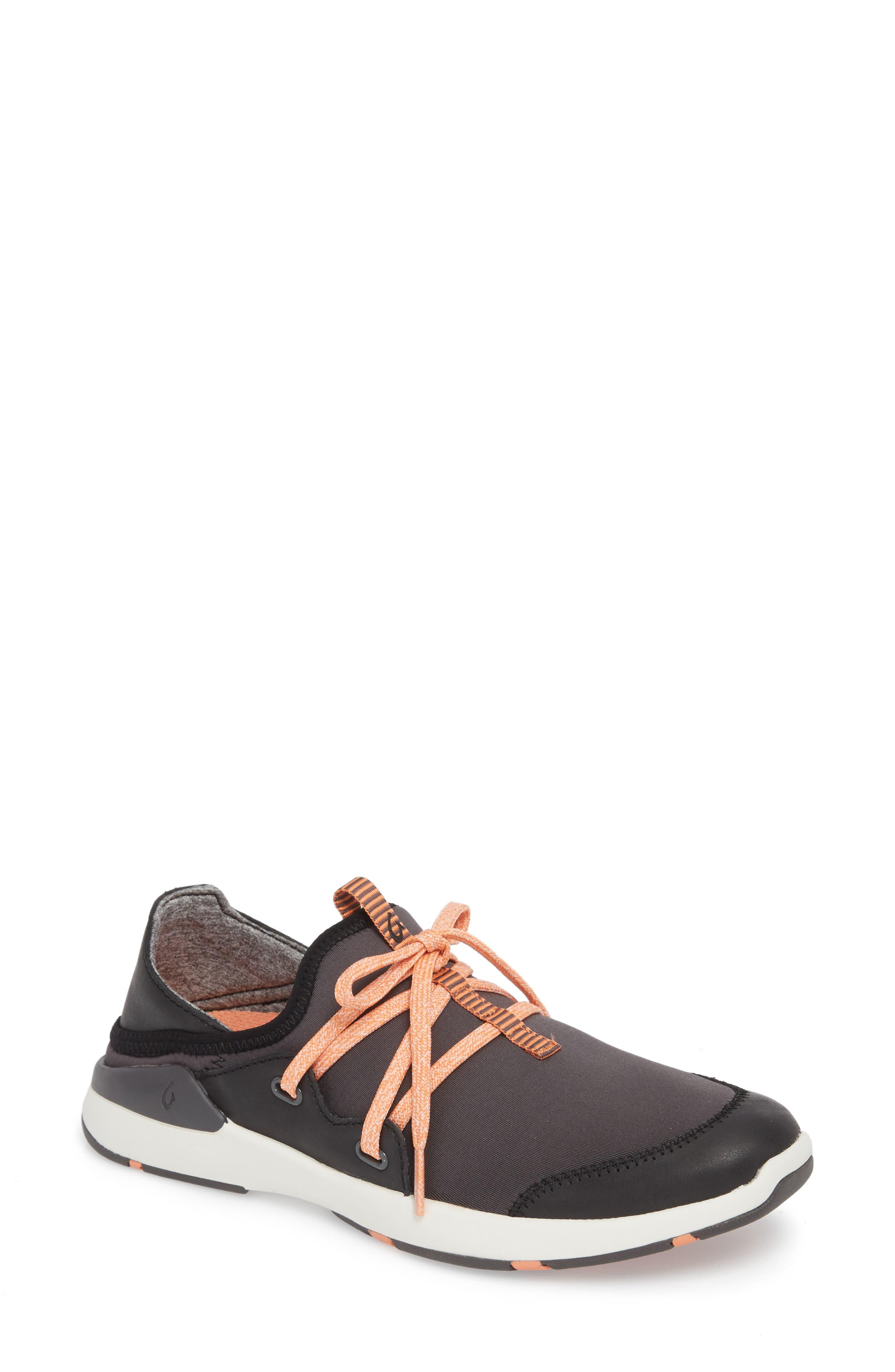 Miki Li Convertible Sneaker,                         Main,                         color, PAVEMENT/ BLACK FABRIC