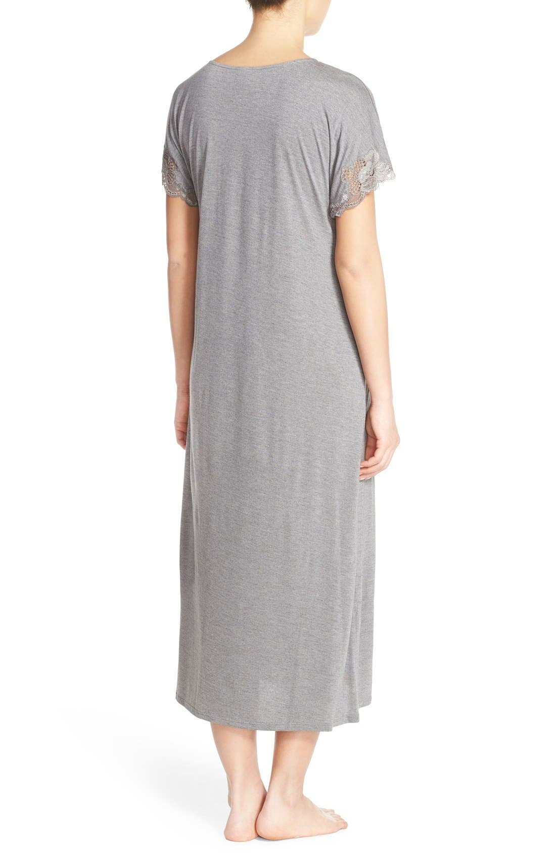 'Zen' Short Sleeve Nightgown,                             Alternate thumbnail 19, color,