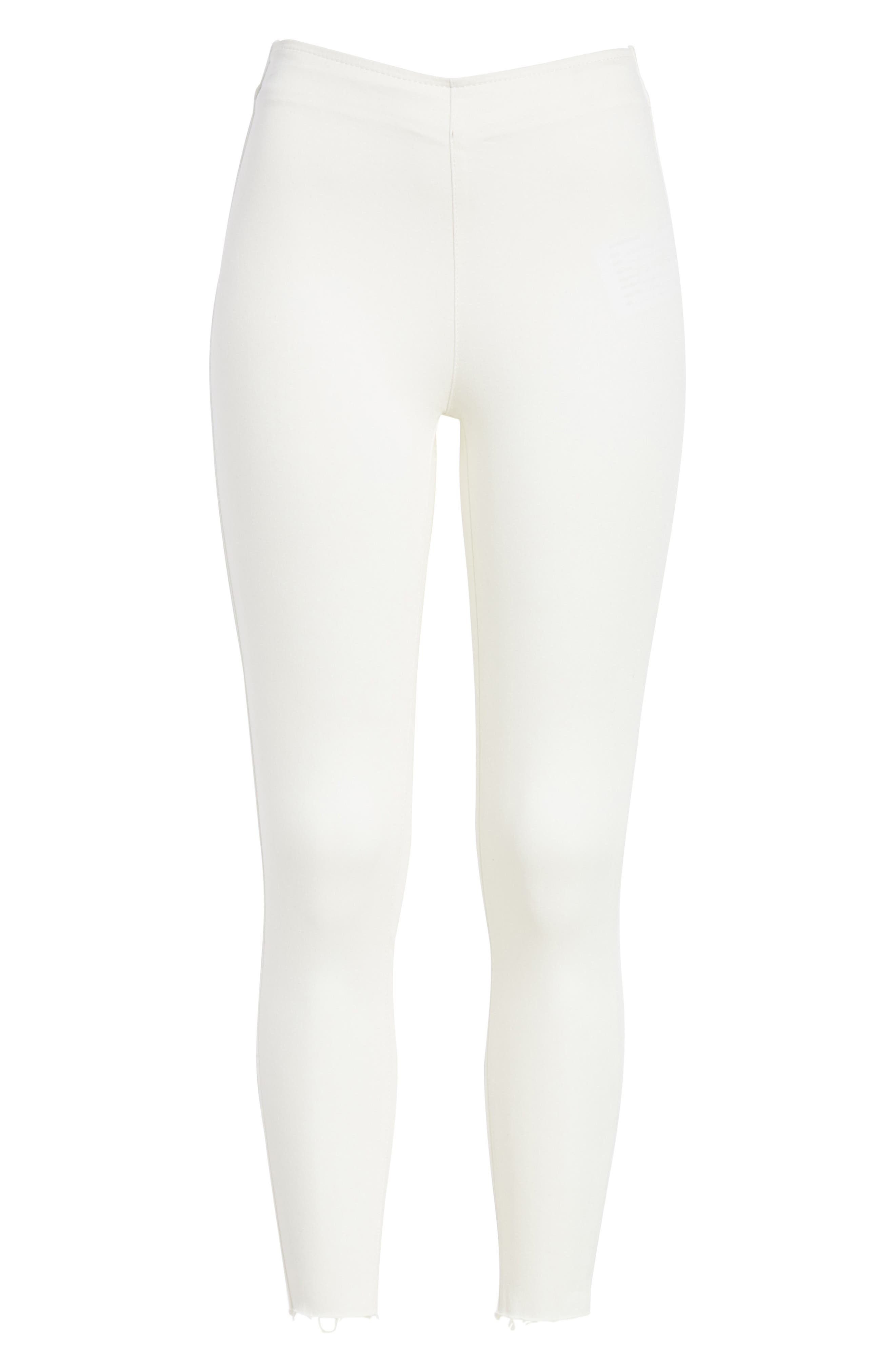 We the Free by Free People Easy Goes It Denim Leggings,                             Alternate thumbnail 6, color,                             WHITE
