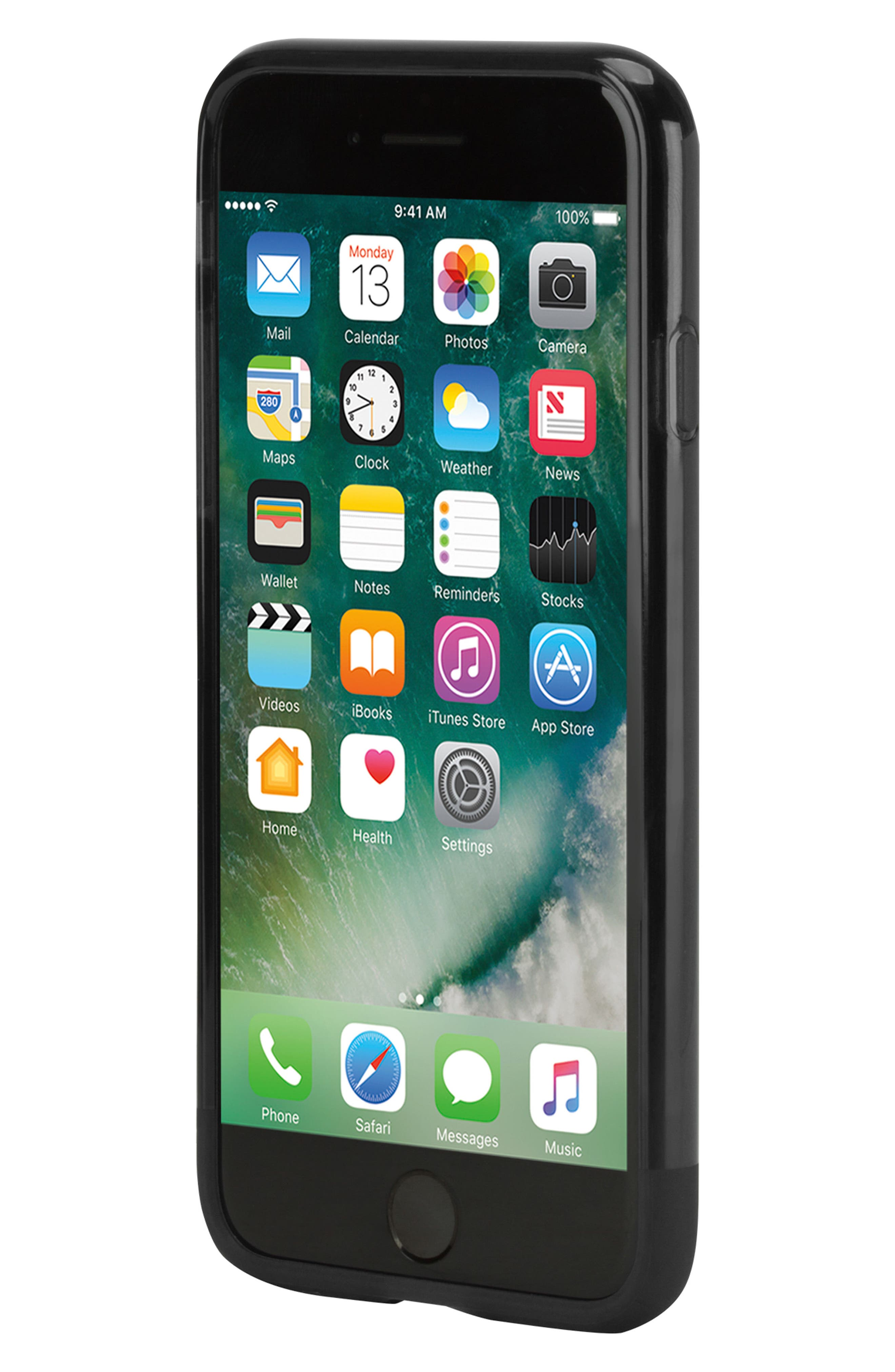 Protective iPhone 7/8 Case,                             Alternate thumbnail 5, color,                             BLACK