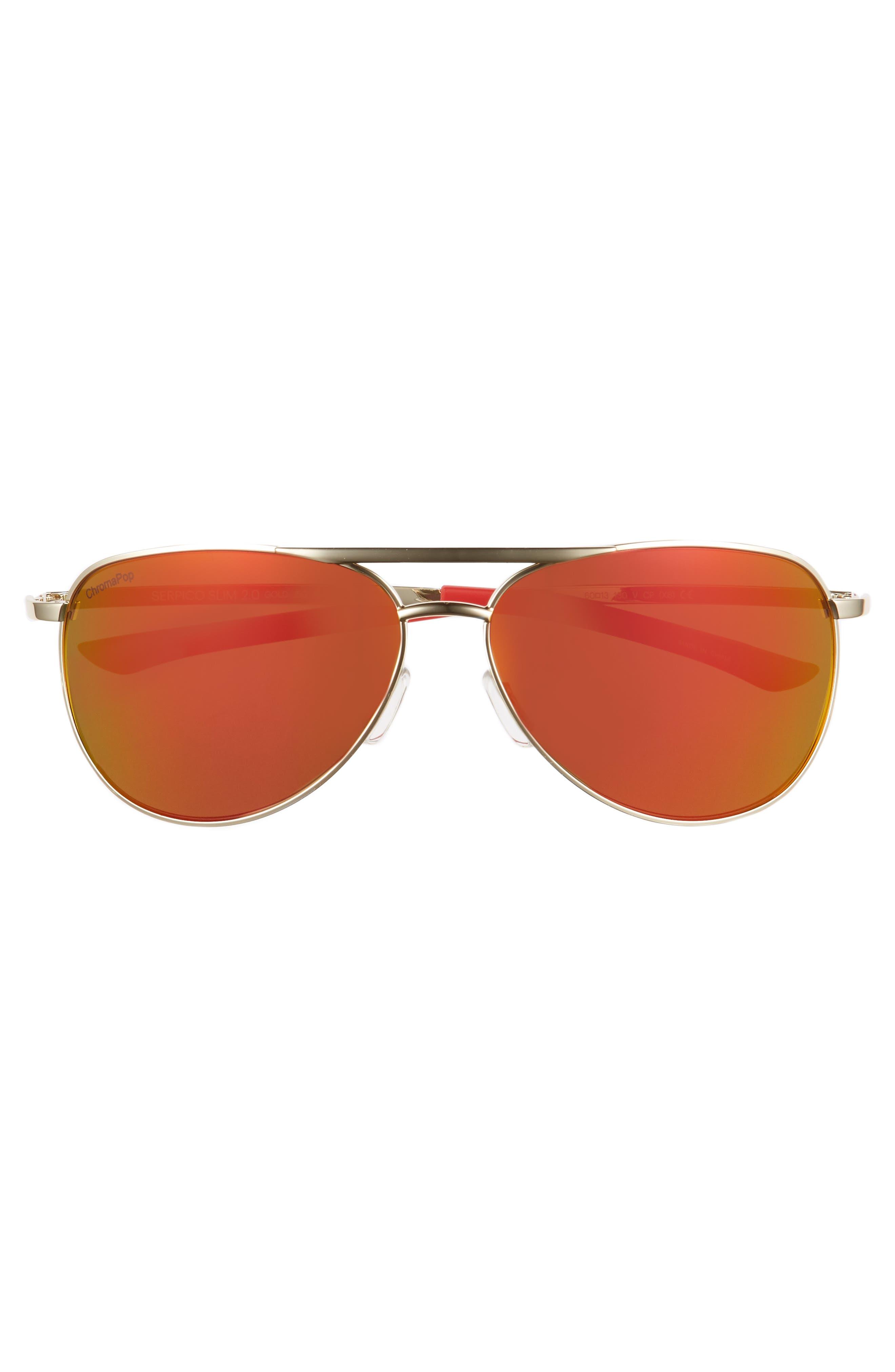 Serpico Slim 2.0 60mm ChromaPop Polarized Aviator Sunglasses,                             Alternate thumbnail 3, color,                             710