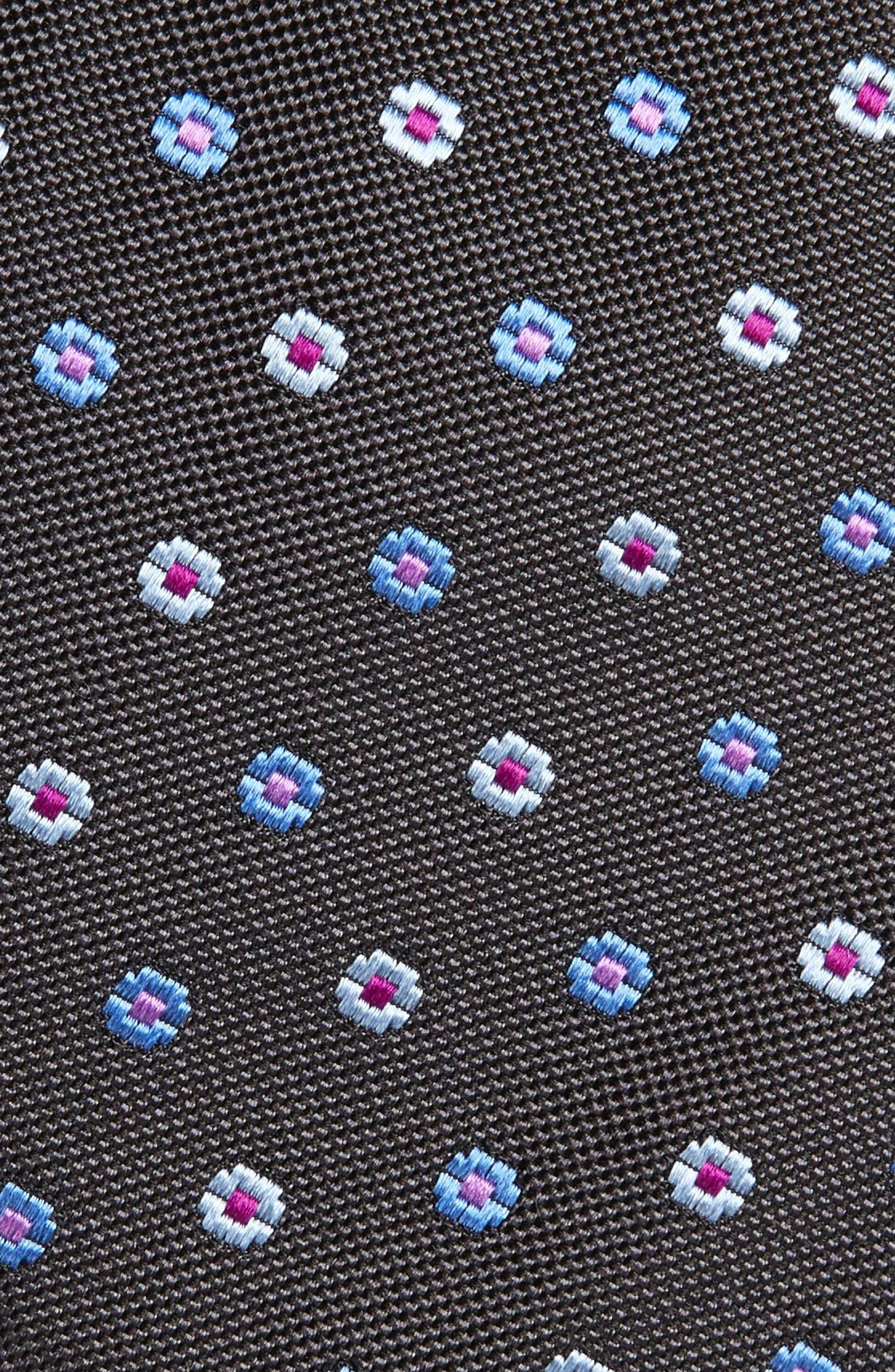 Neat Floral Medallion Silk Tie,                             Alternate thumbnail 2, color,                             020