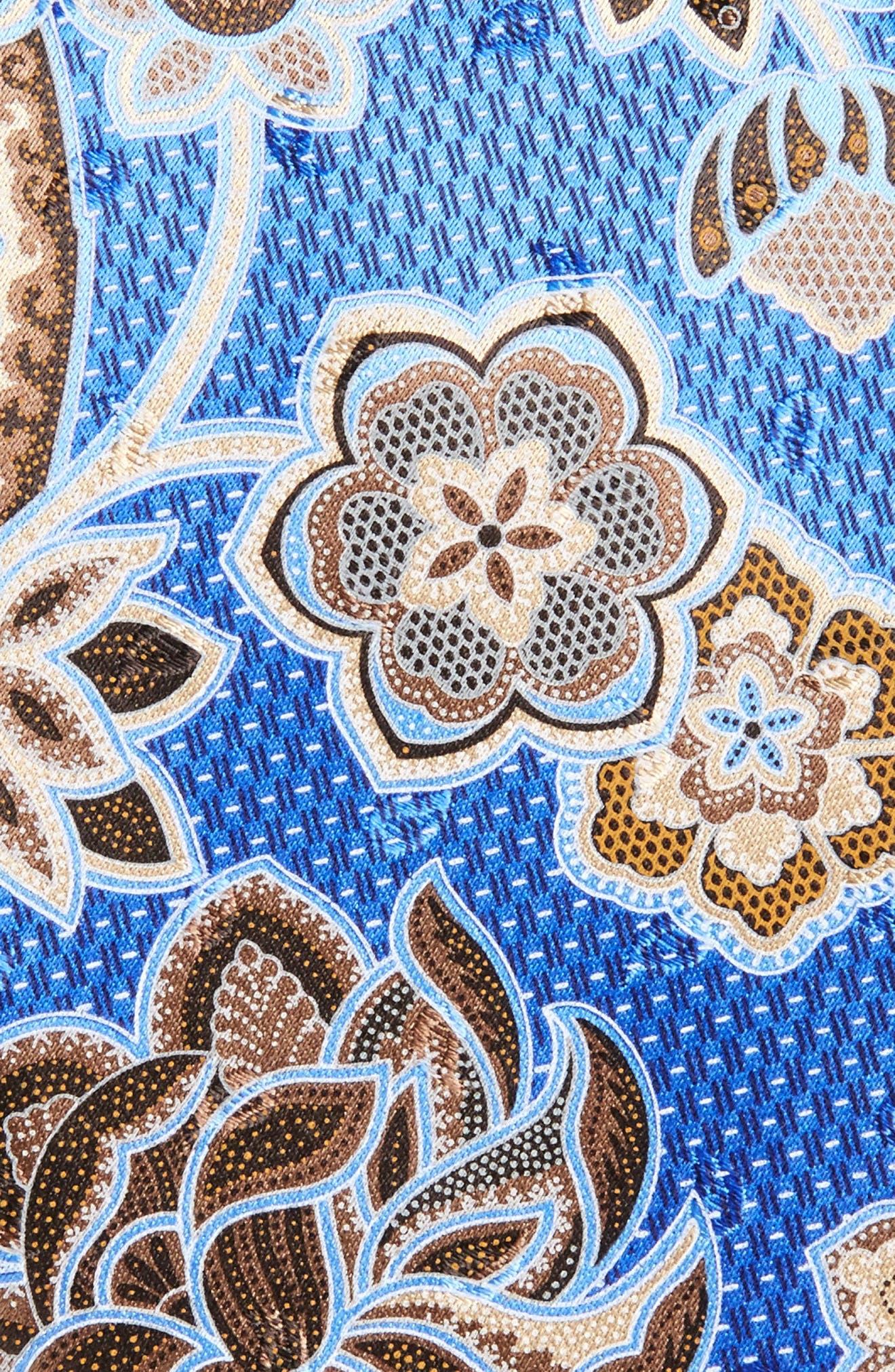 Floral Silk Tie,                             Alternate thumbnail 2, color,                             428