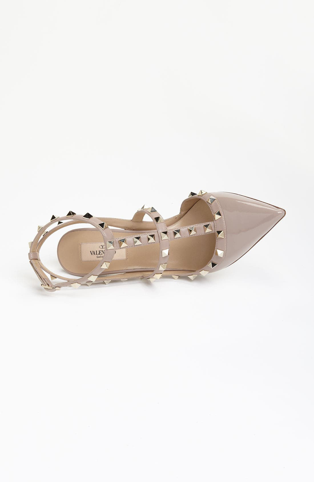 Rockstud T-Strap Pump,                             Alternate thumbnail 9, color,                             POUDRE PATENT