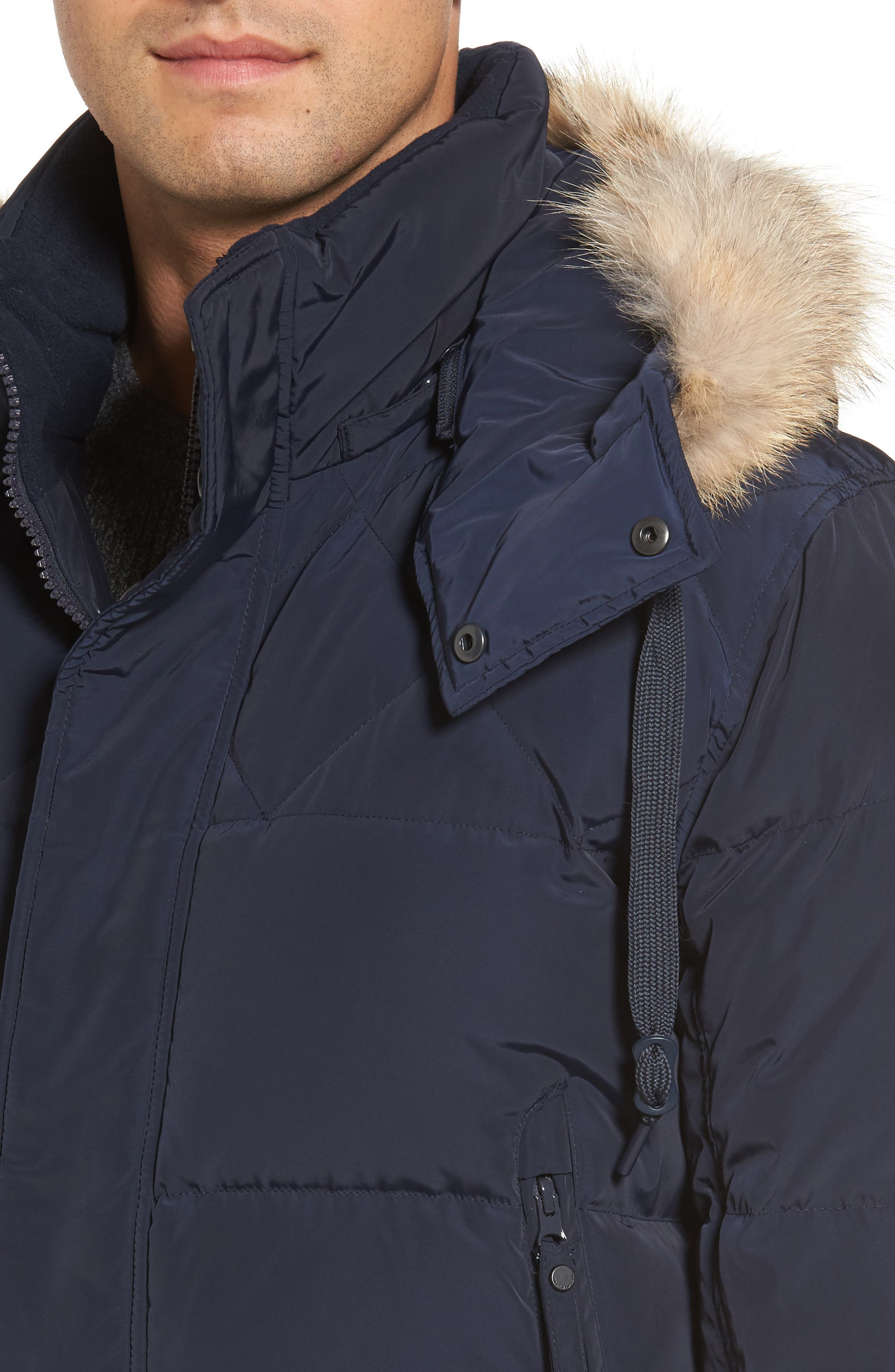 Insulated Jacket with Genuine Coyote Fur,                             Alternate thumbnail 8, color,