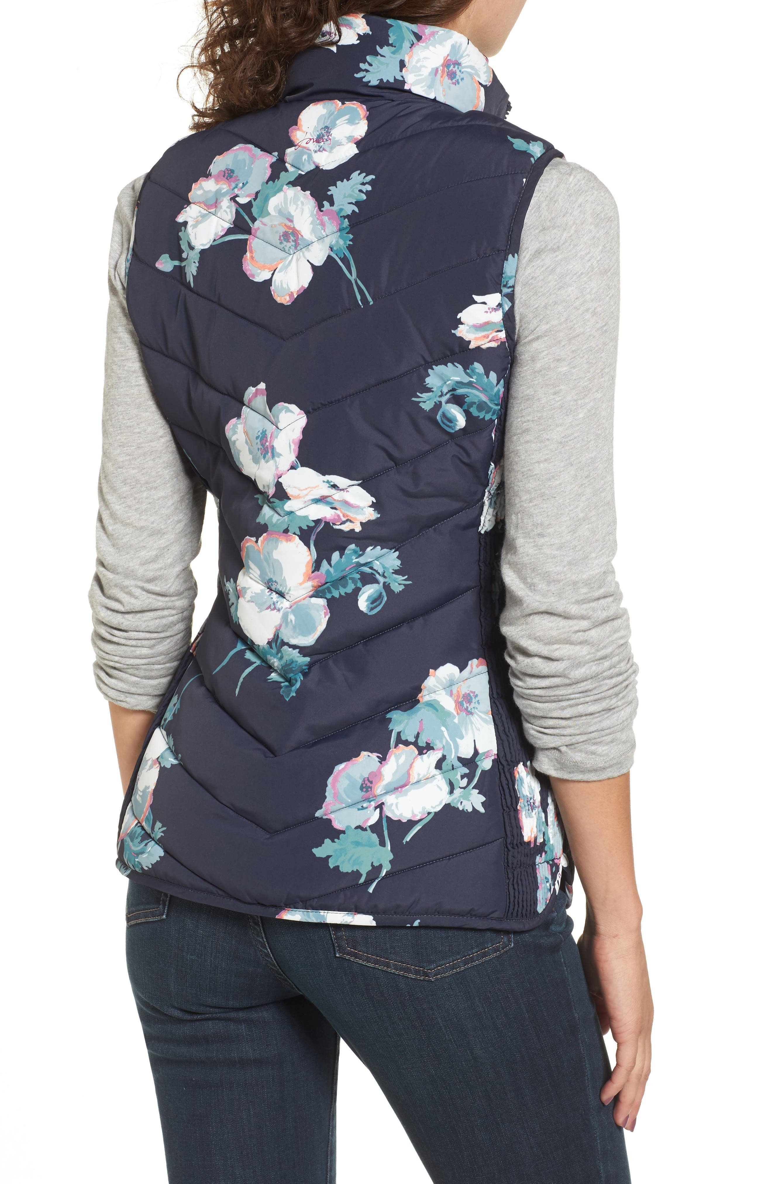 Print Quilted Vest,                             Alternate thumbnail 2, color,                             407