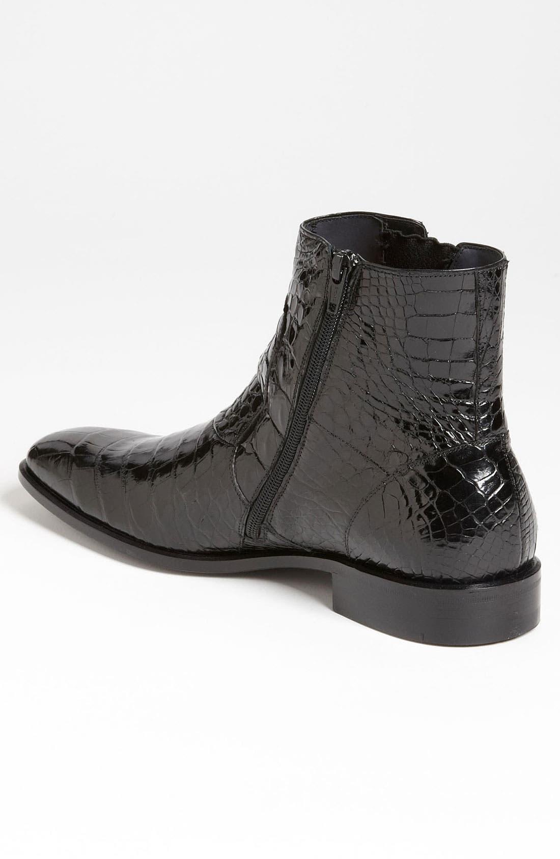 'Belucci' Alligator Boot,                             Alternate thumbnail 4, color,                             001