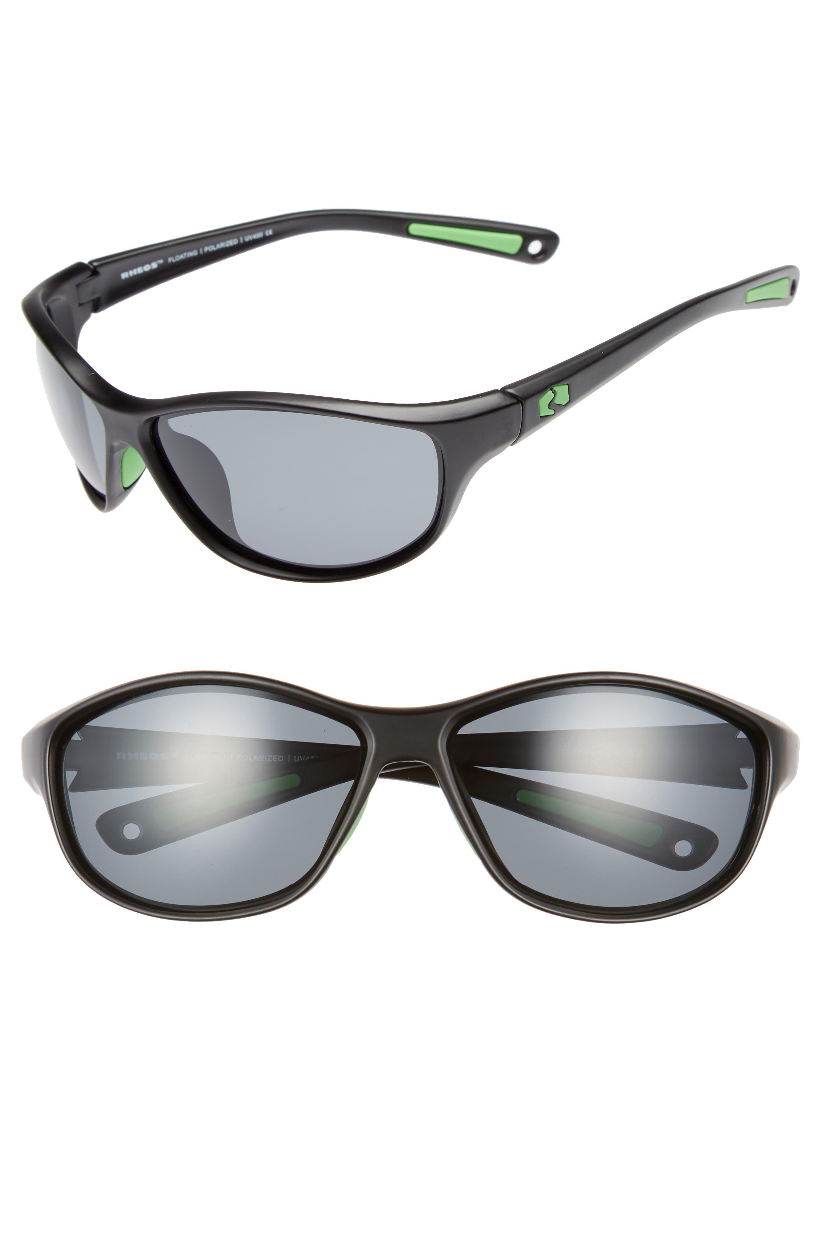 Bahias Floating 60mm Polarized Sunglasses,                             Main thumbnail 1, color,                             GUNMETAL / GUNMETAL