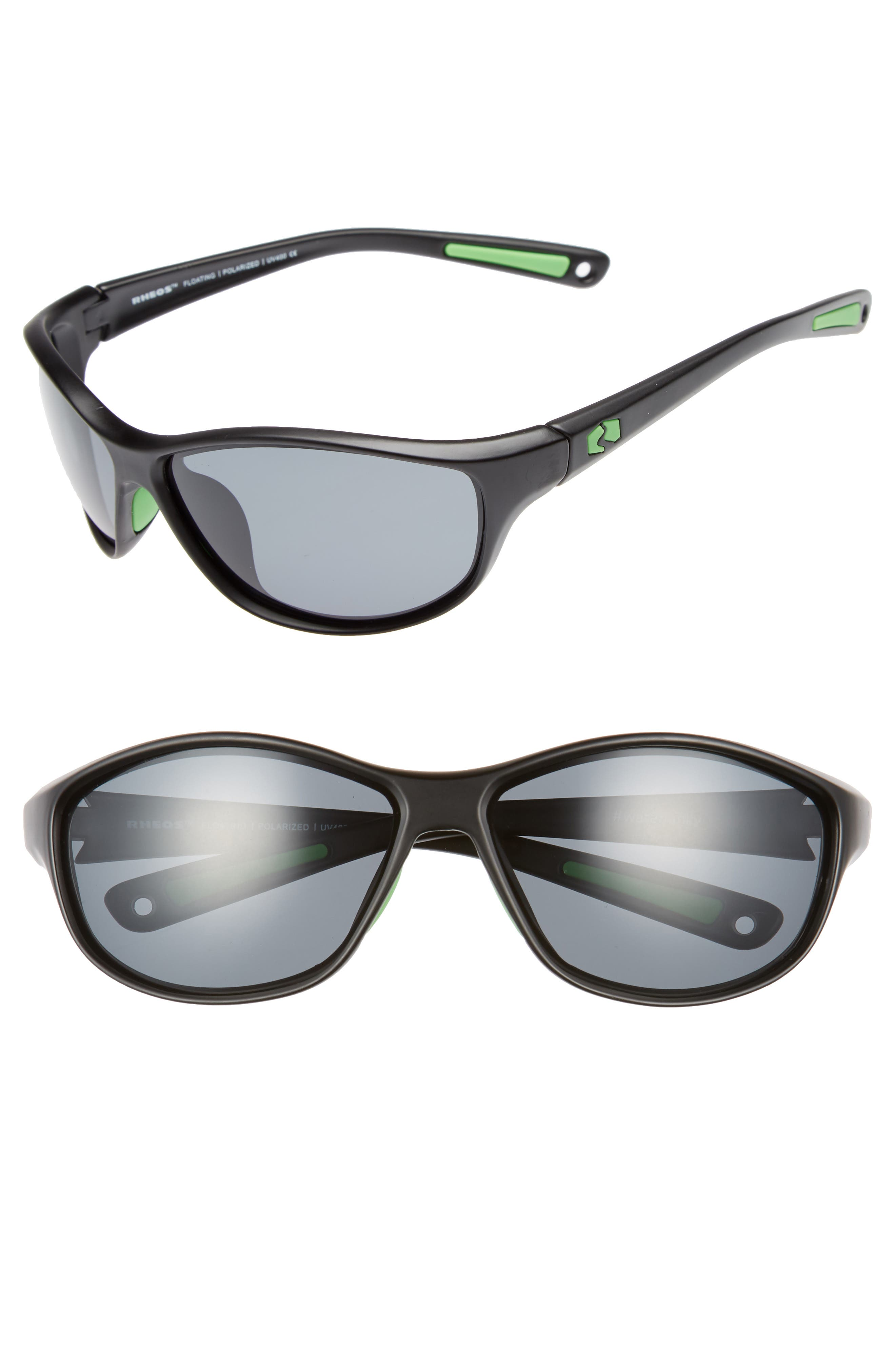 Bahias Floating 60mm Polarized Sunglasses,                         Main,                         color, GUNMETAL / GUNMETAL