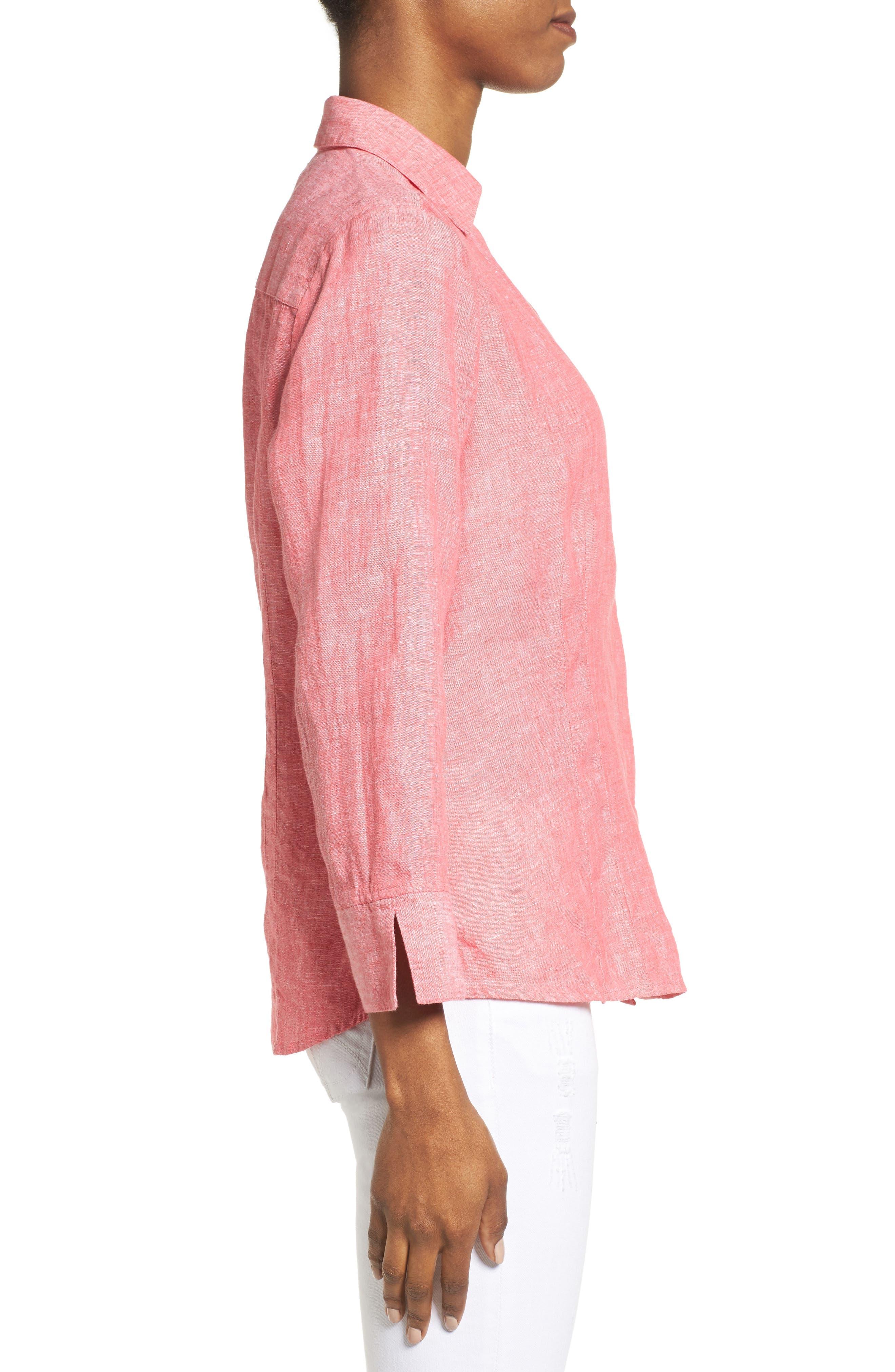 Linen Chambray Shirt,                             Alternate thumbnail 21, color,