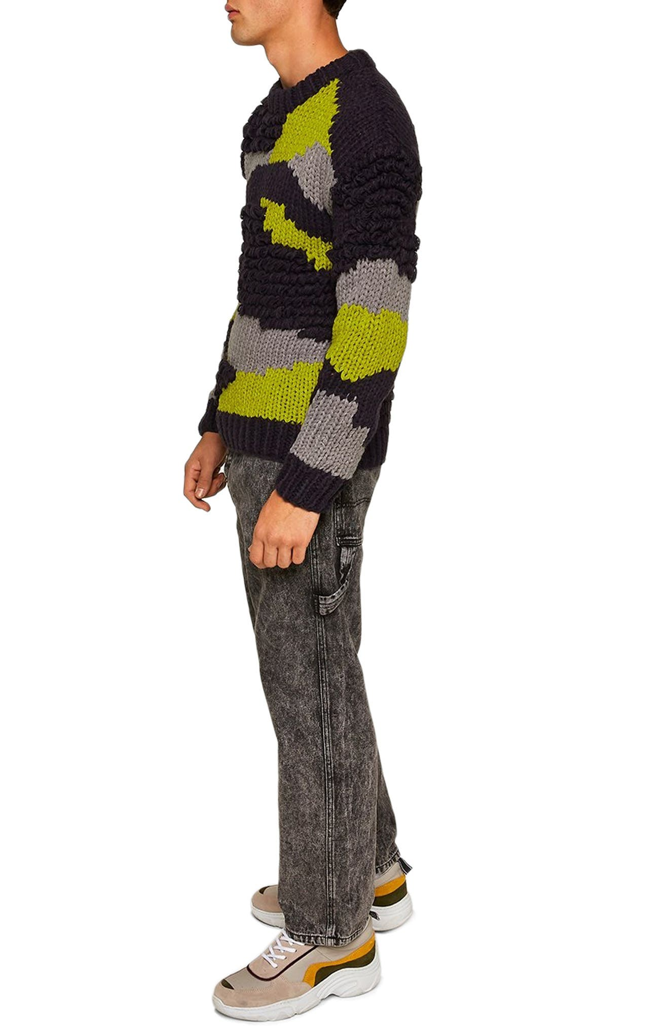Classic Fit Sweater,                             Alternate thumbnail 3, color,                             020