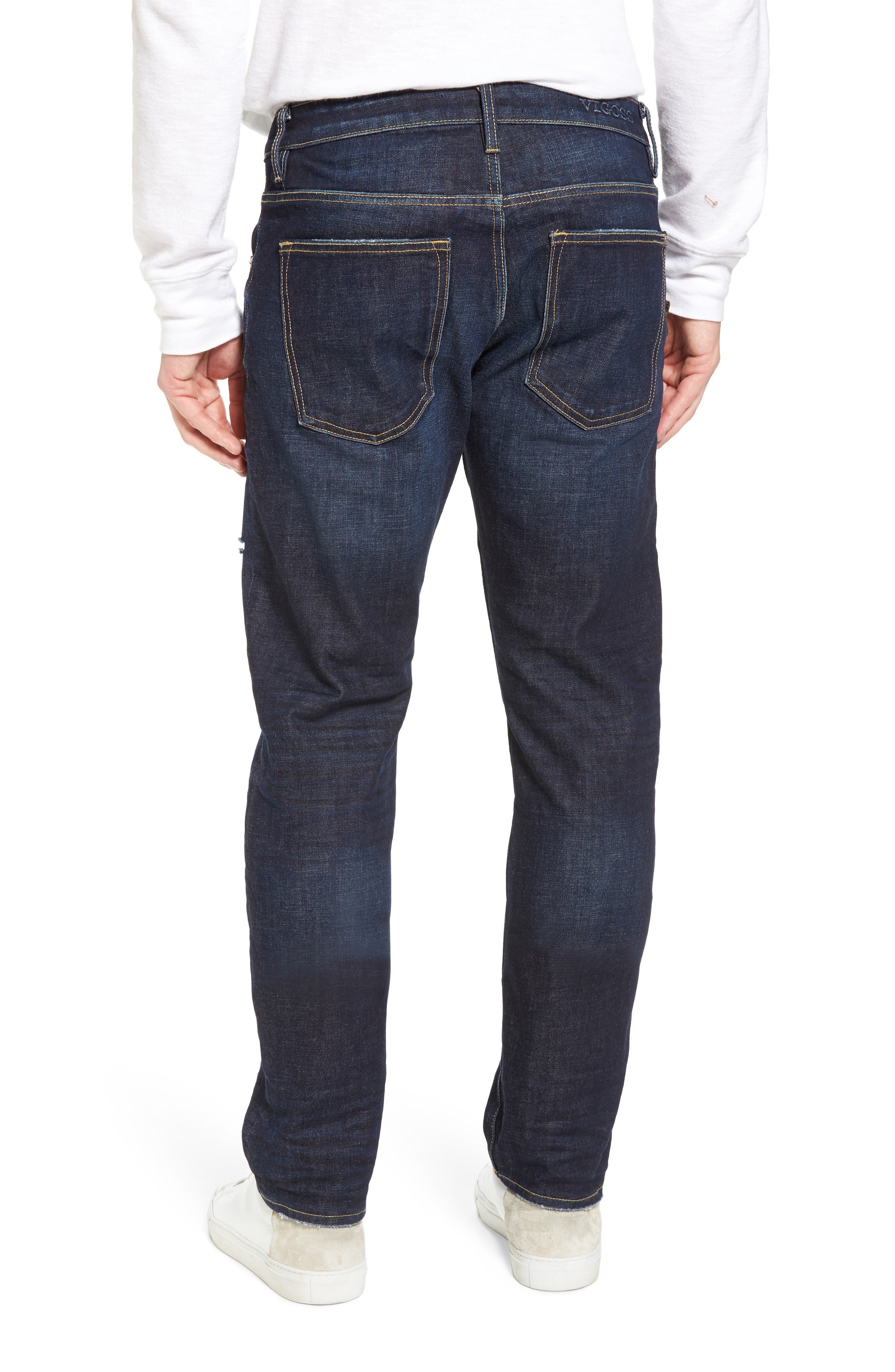 Slim Straight Leg Jeans,                             Alternate thumbnail 2, color,                             DARK WASH
