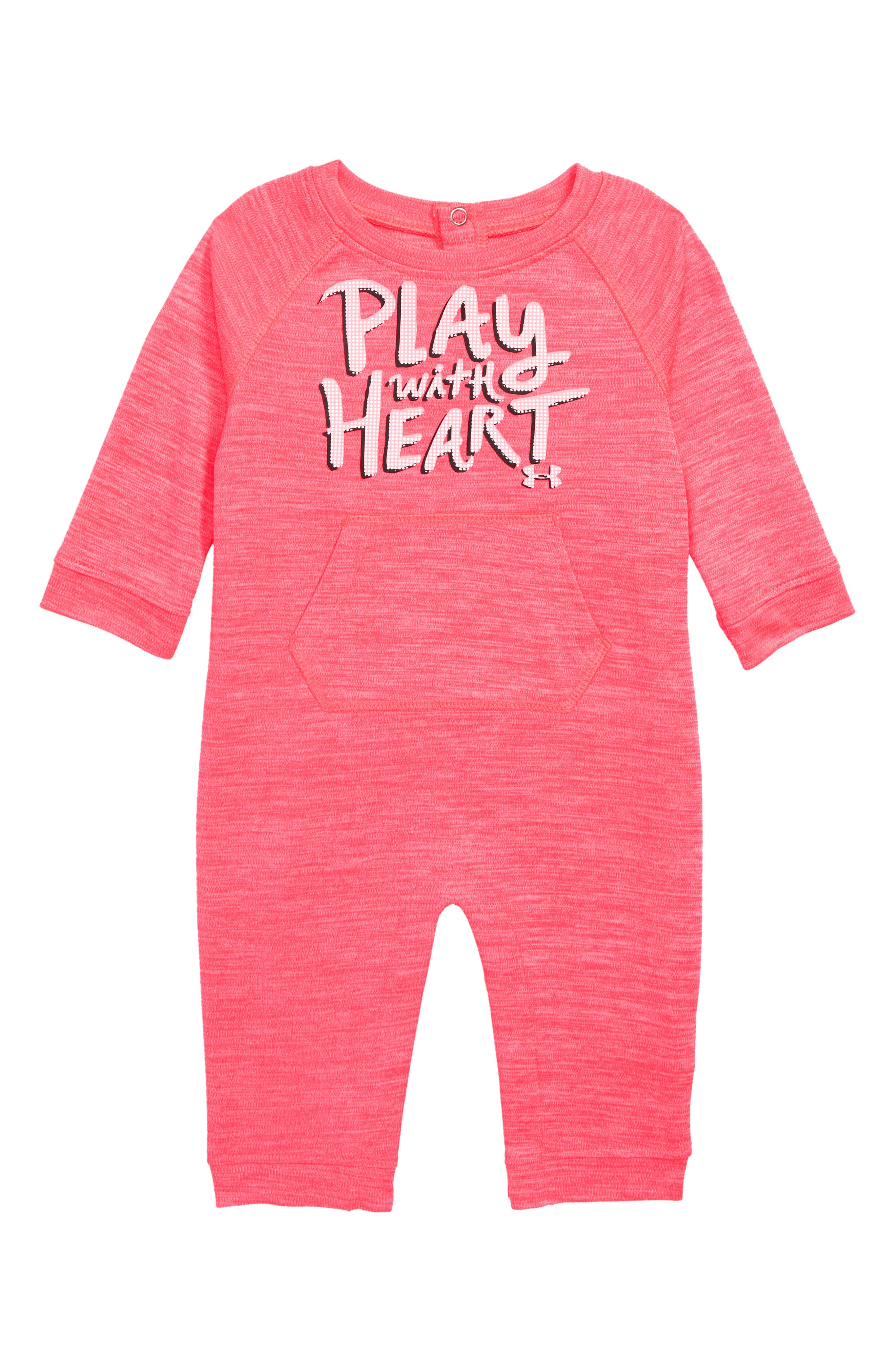 Play with Heart Graphic Romper,                             Main thumbnail 1, color,                             670