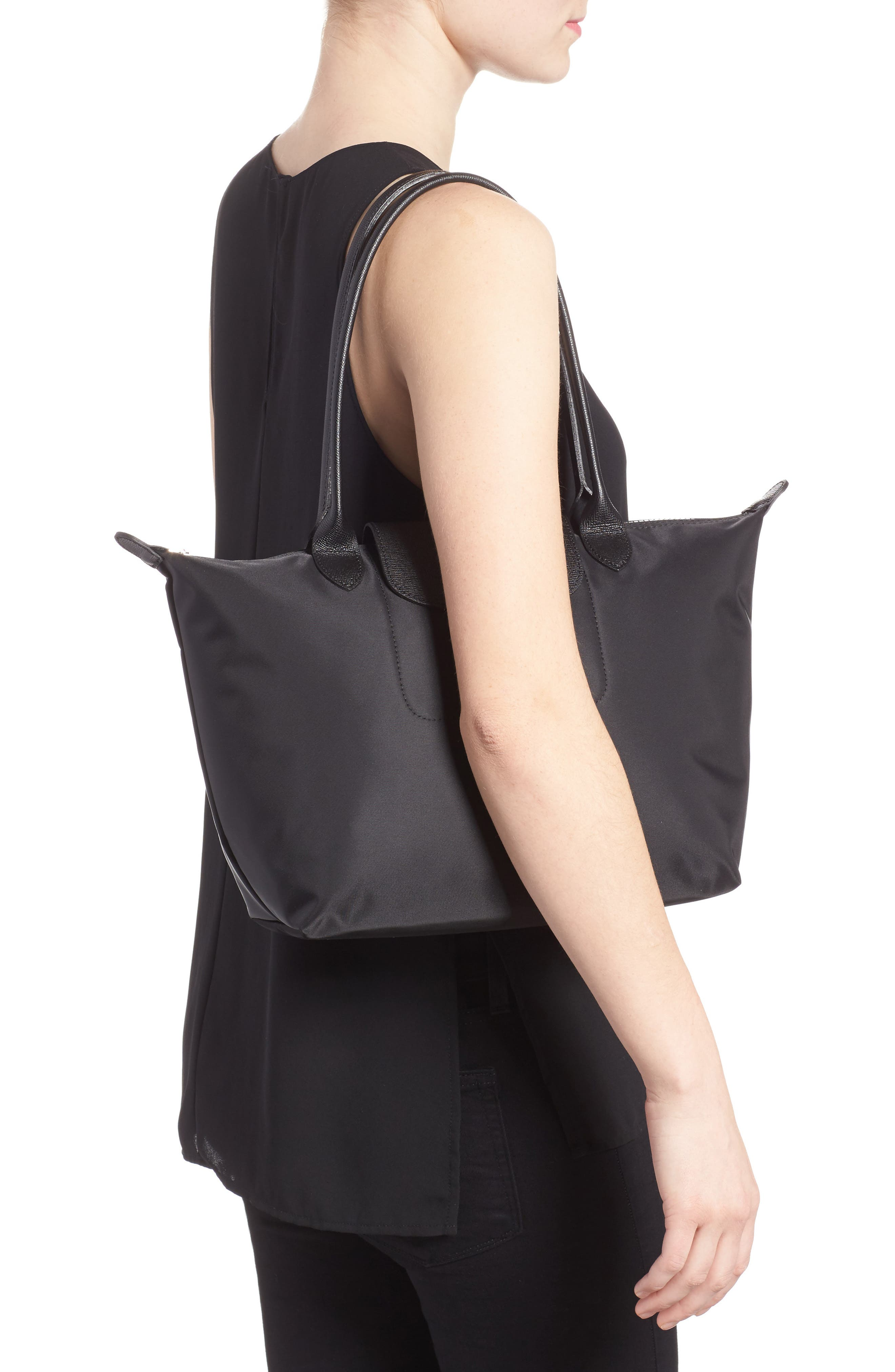 Small Le Pliage Neo Nylon Tote,                             Alternate thumbnail 2, color,                             BLACK