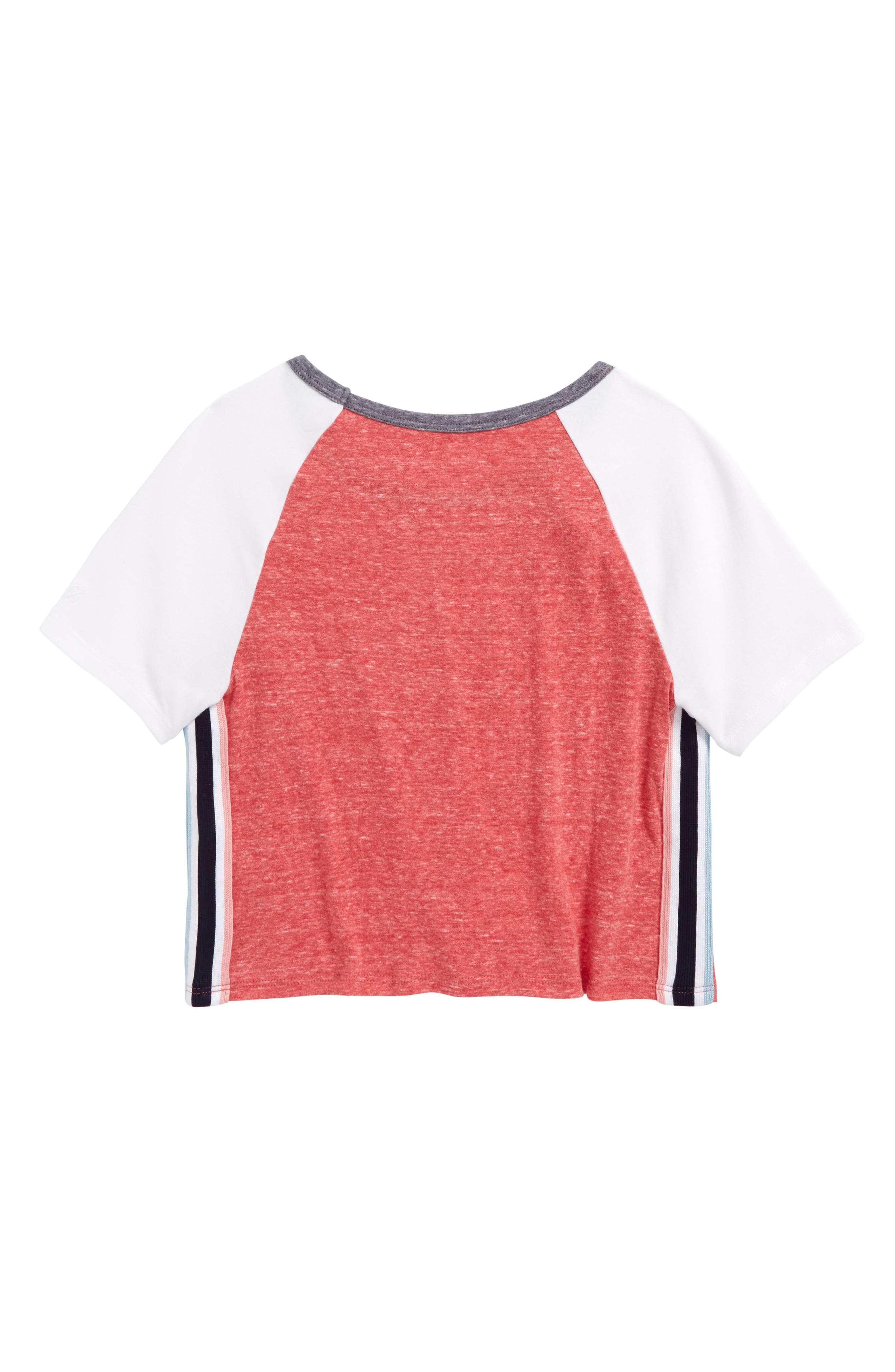 Side Stripe Crewneck Tee,                             Alternate thumbnail 6, color,