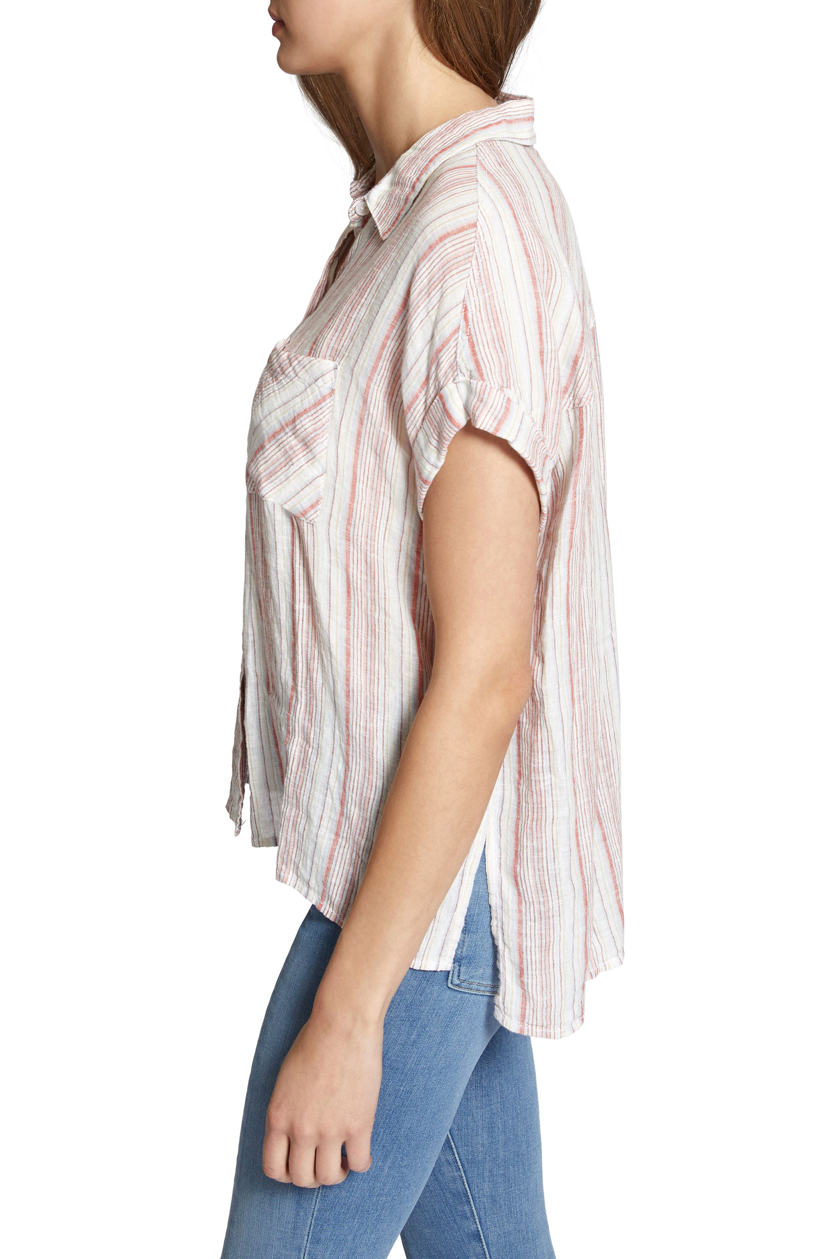 Mod Short Sleeve Boyfriend Shirt,                             Alternate thumbnail 20, color,