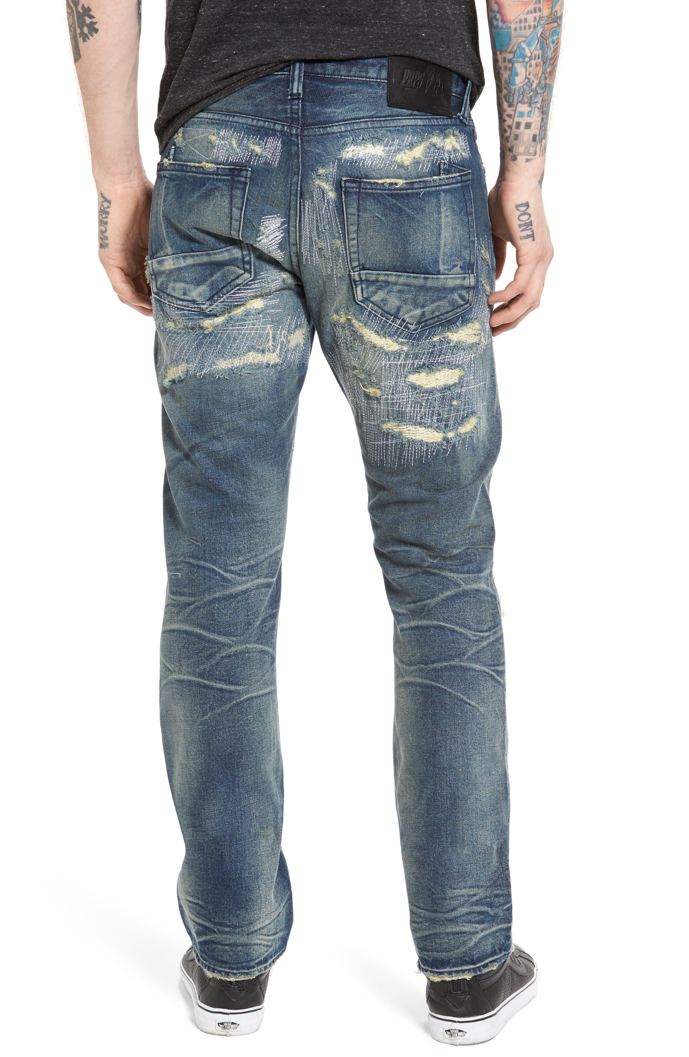 PRPS,                             Demon Slim Straight Jeans,                             Alternate thumbnail 2, color,                             INDIGO BLUE
