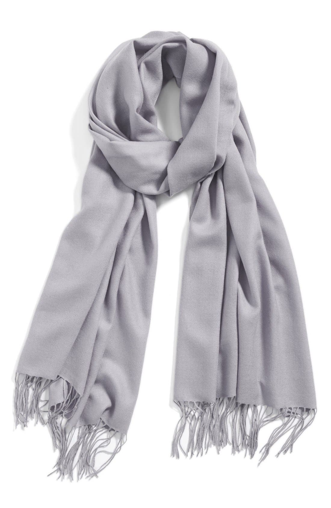 Tissue Weight Wool & Cashmere Wrap,                             Main thumbnail 5, color,