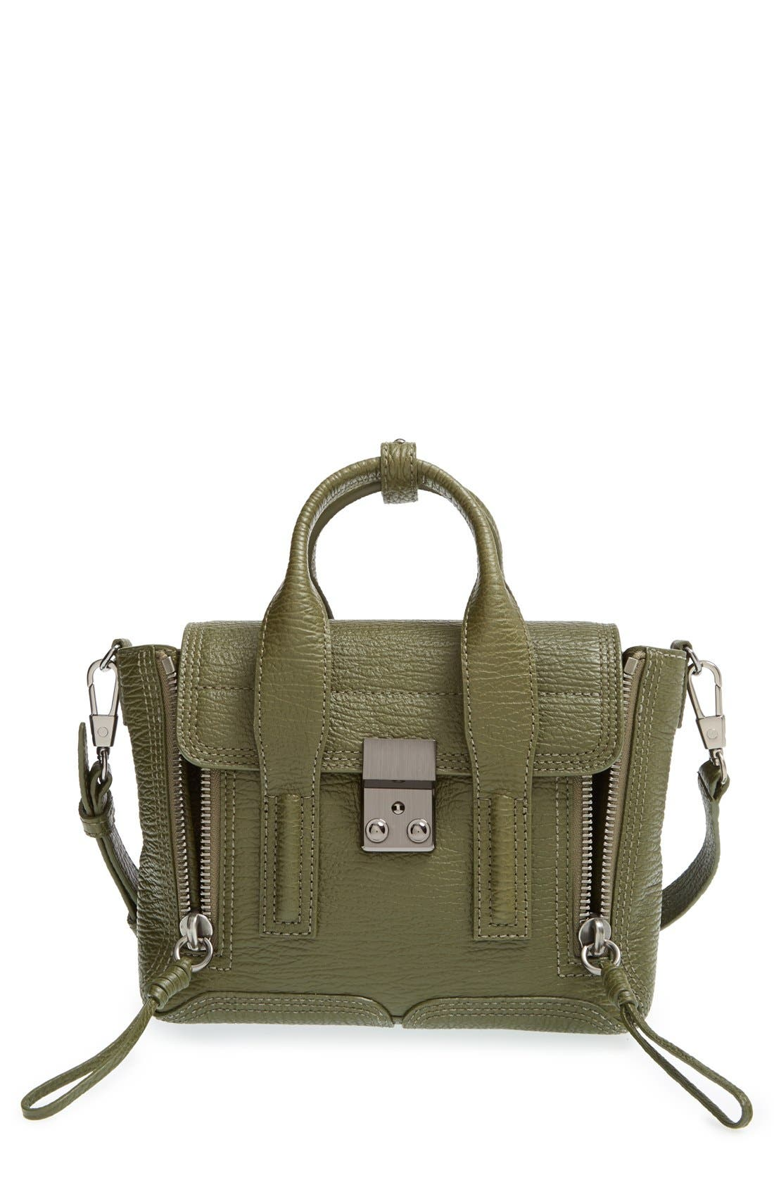 'Mini Pashli' Leather Satchel, Main, color, 300