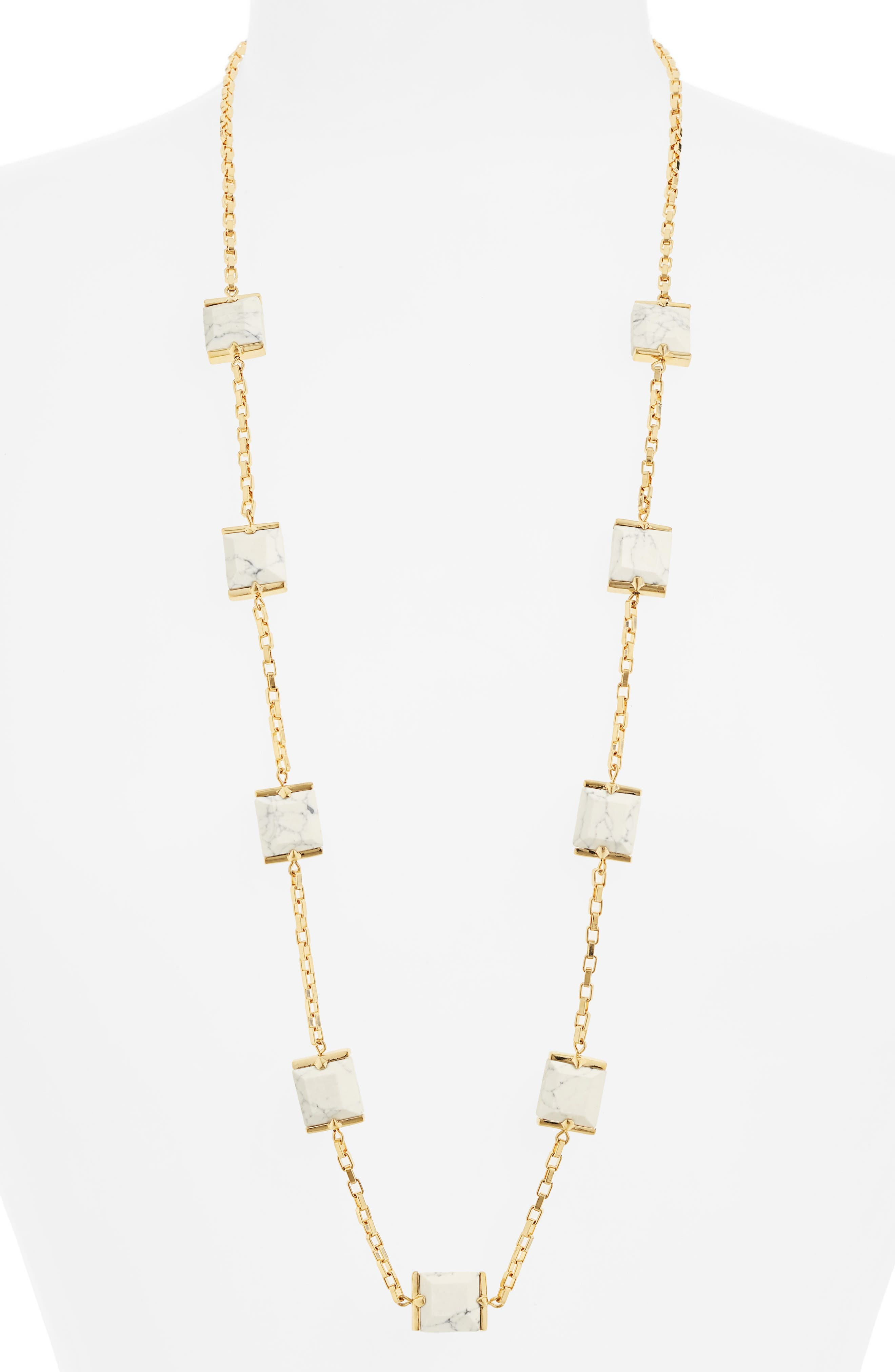 Rosary Faceted Marble Cube Necklace,                         Main,                         color, 100