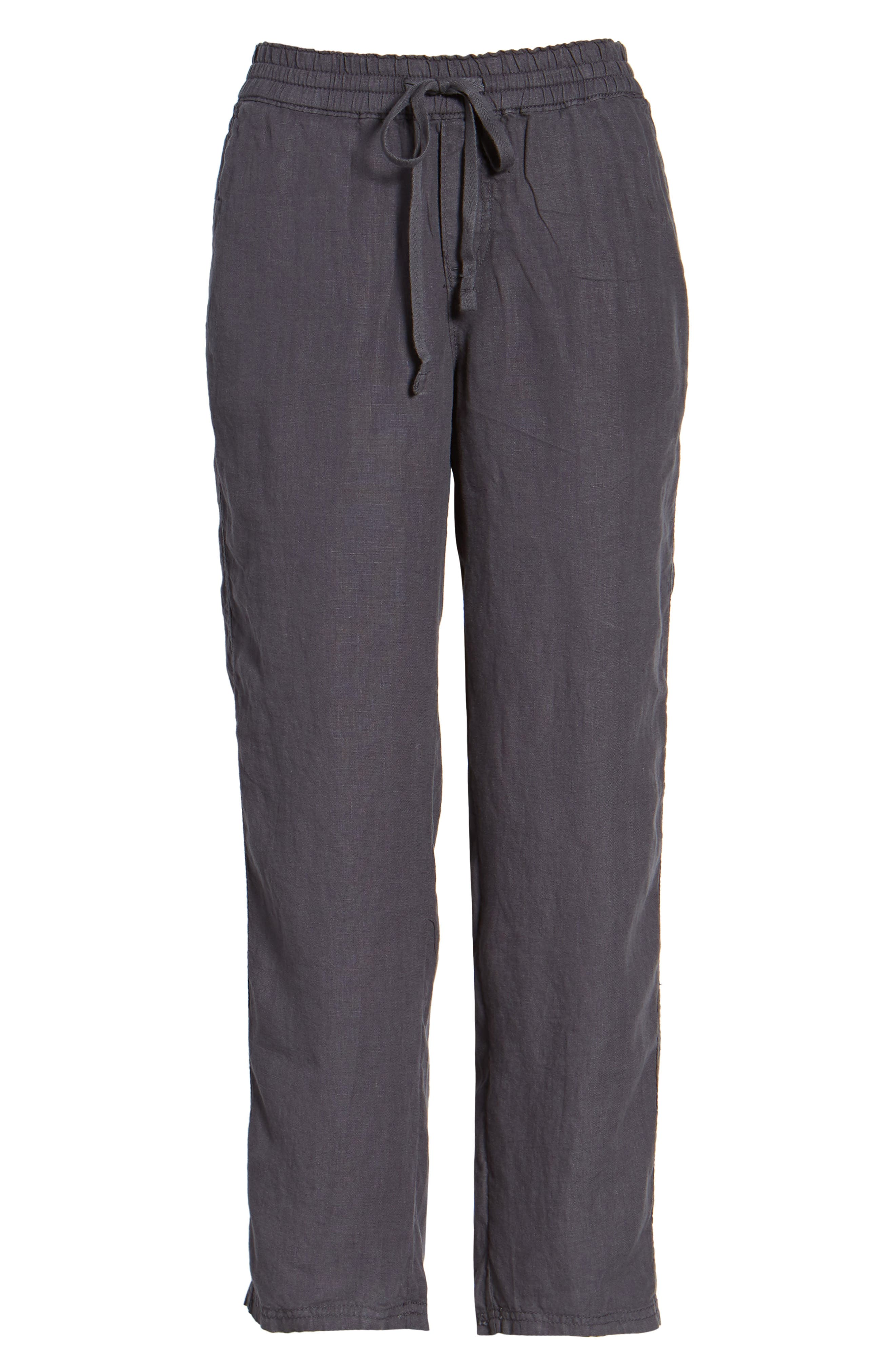 Linen Crop Pants,                             Alternate thumbnail 37, color,