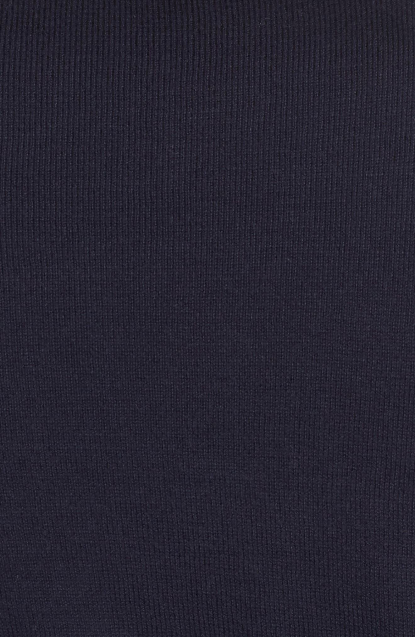 Saddle Shoulder Cotton & Cashmere V-Neck Sweater,                             Alternate thumbnail 39, color,