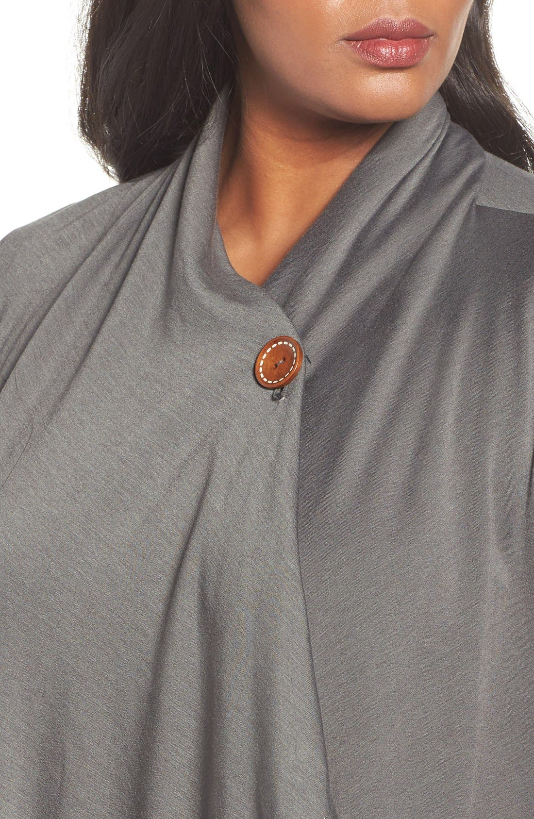 One-Button Fleece Cardigan,                             Alternate thumbnail 151, color,