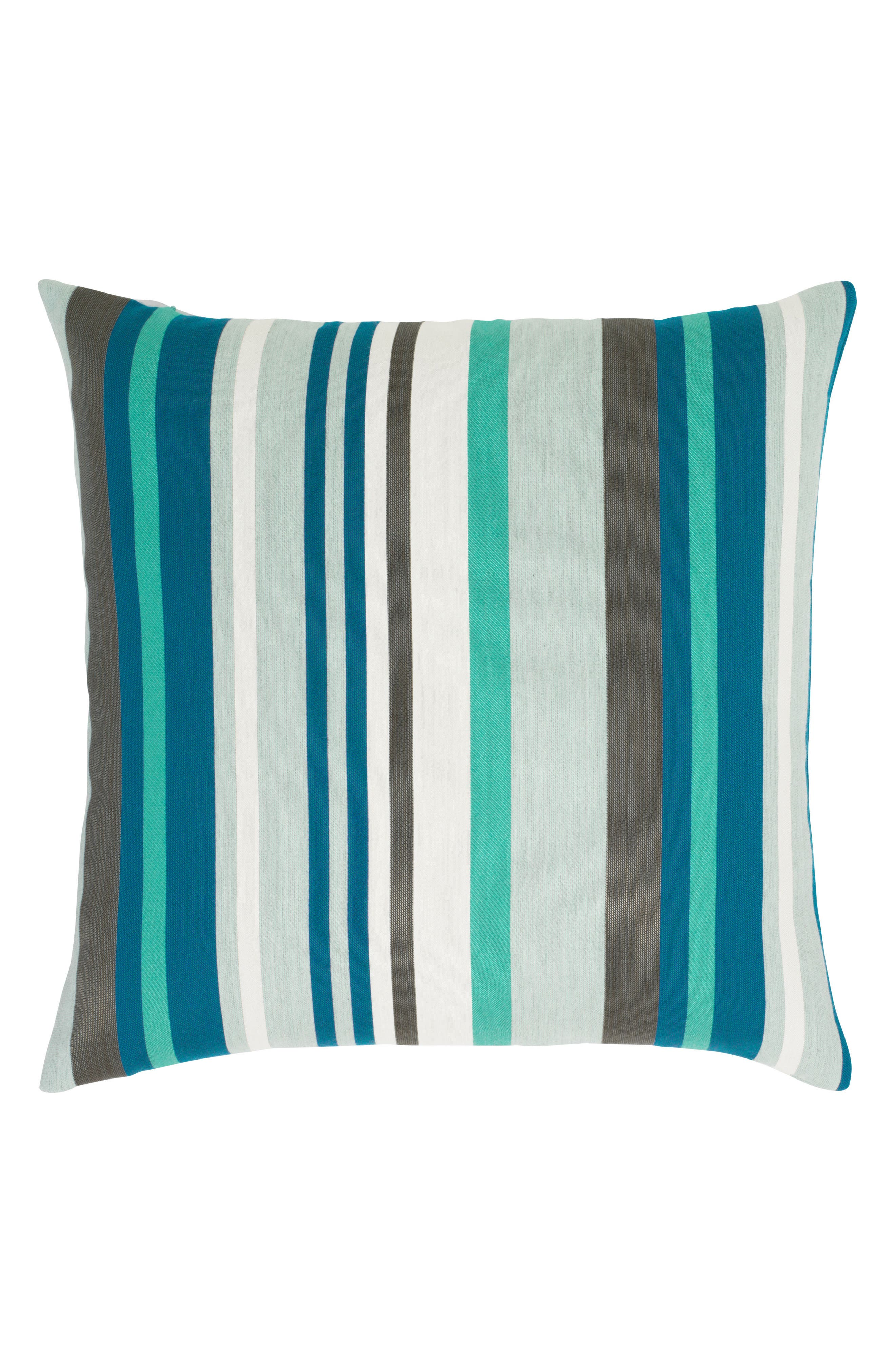 Lagoon Stripe Indoor/Outdoor Accent Pillow,                             Main thumbnail 1, color,                             BLUE MULTI