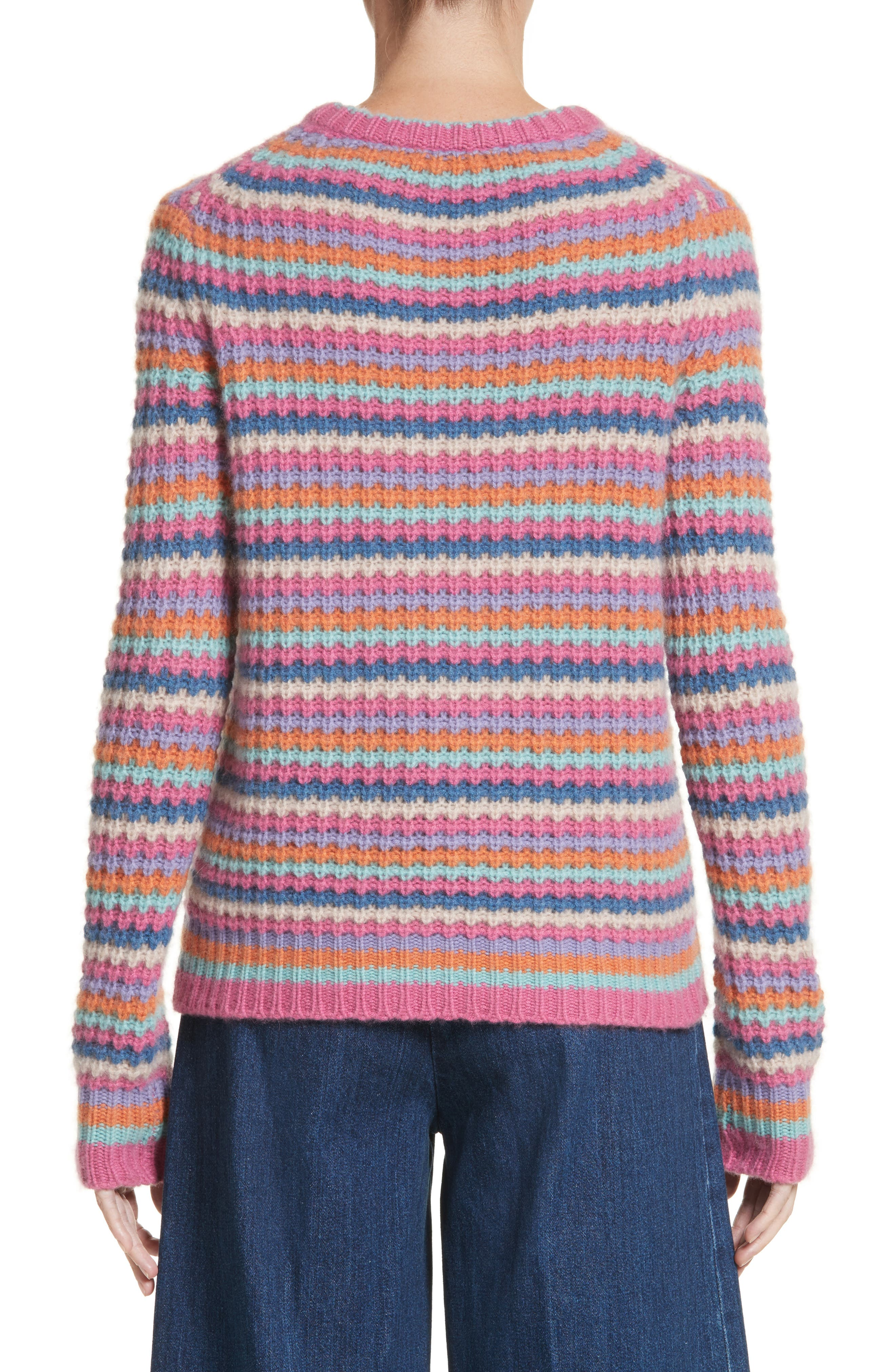 Stripe Cashmere Sweater,                             Alternate thumbnail 2, color,                             651