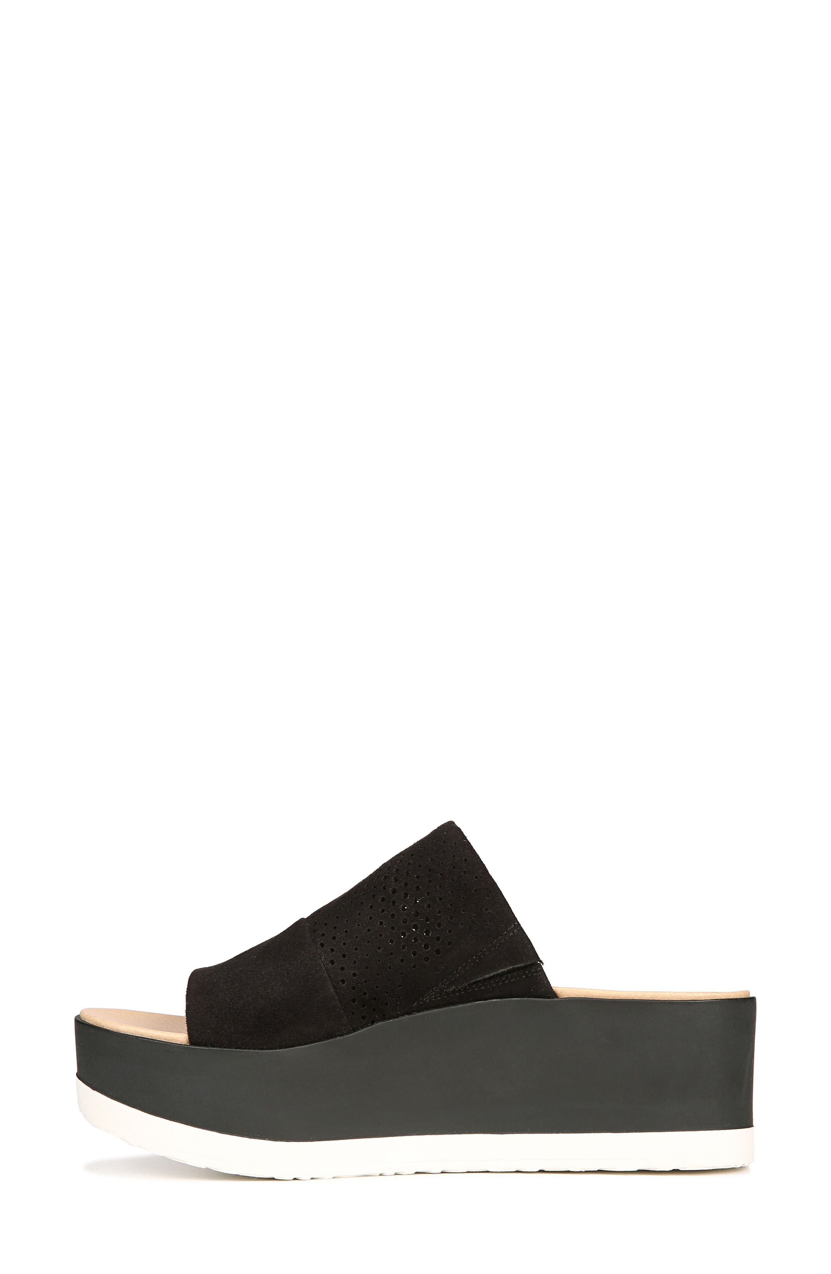 Collins Platform Sandal,                             Alternate thumbnail 3, color,                             BLACK FABRIC