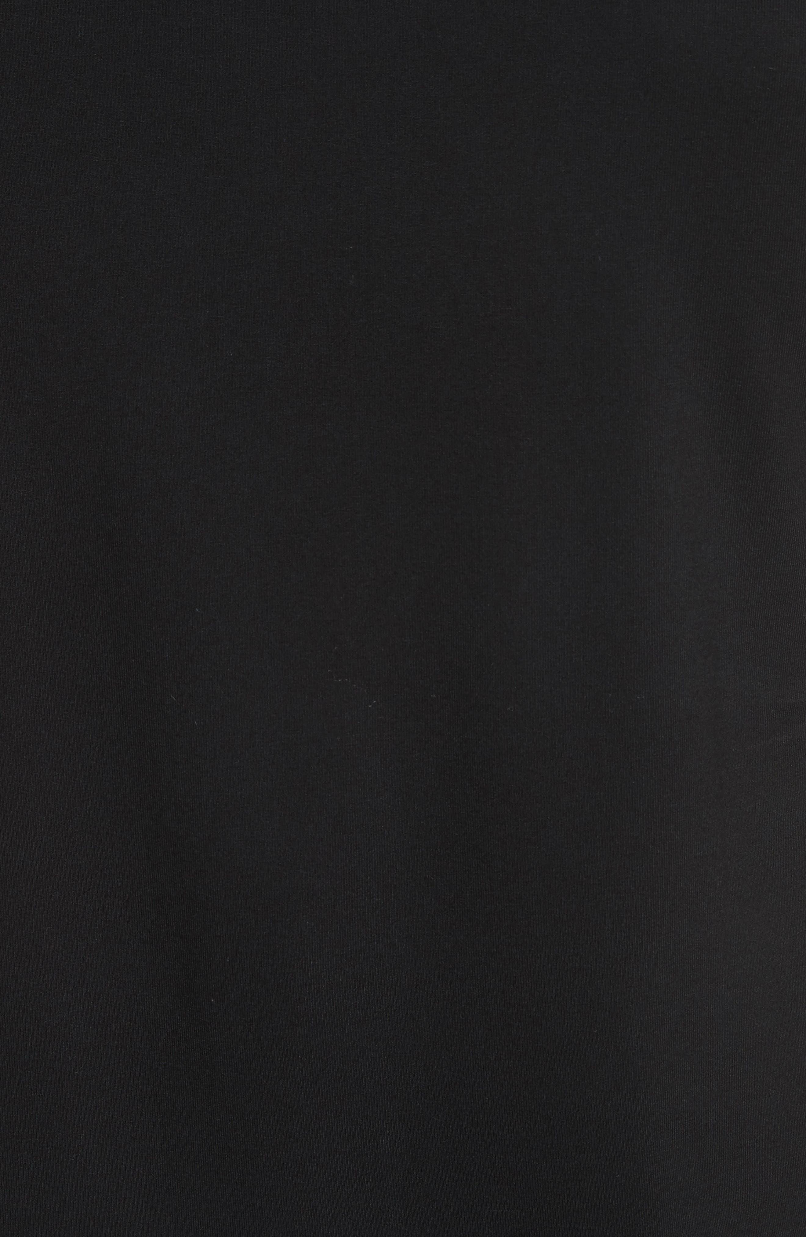 Slim Fit Stretch Crewneck T-Shirt,                             Alternate thumbnail 5, color,                             SOLID BLACK