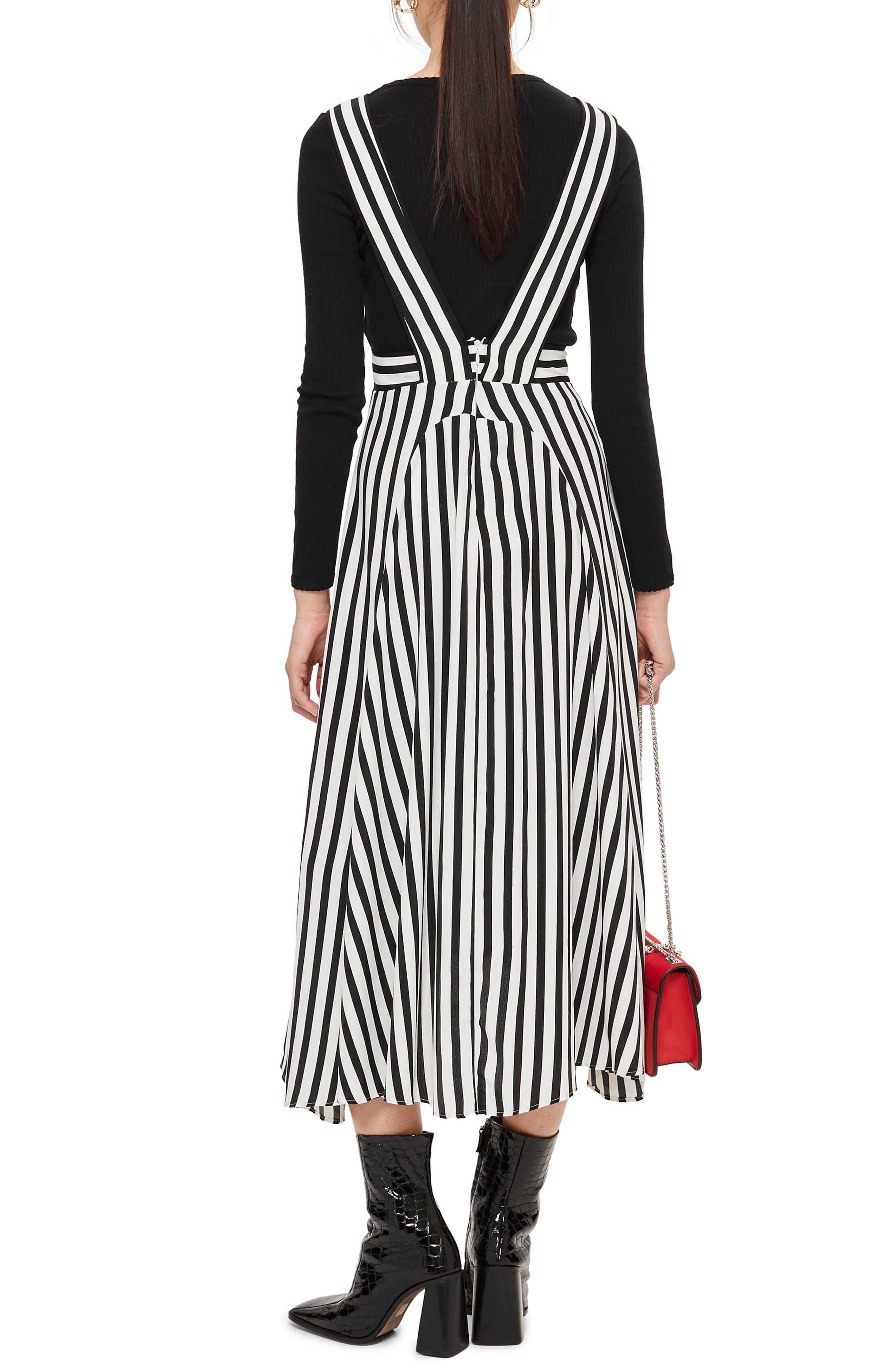 Pinafore Midi Dress,                             Alternate thumbnail 2, color,                             100