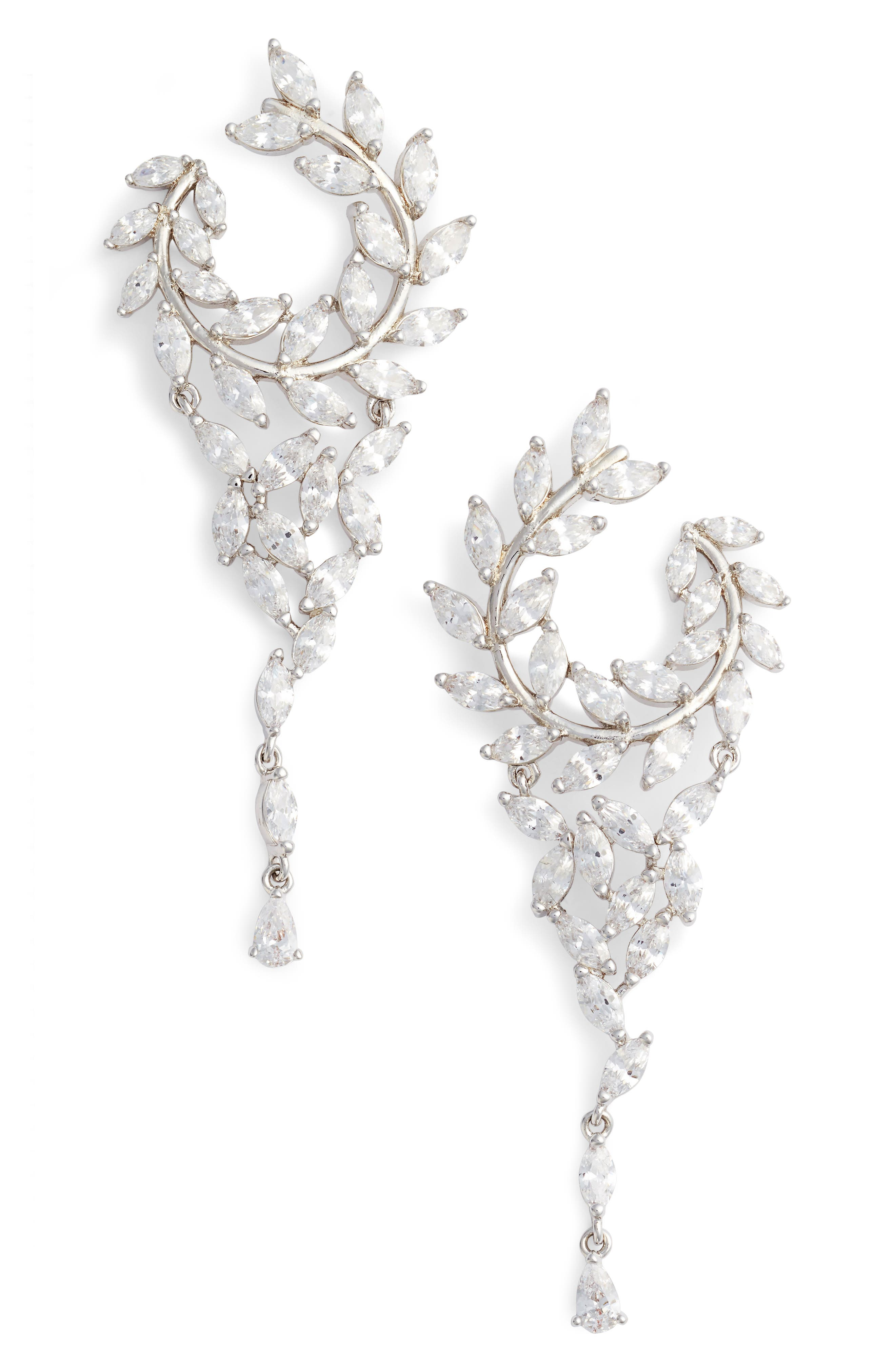 NINA,                             Fern Chandelier Drop Earrings,                             Main thumbnail 1, color,                             040