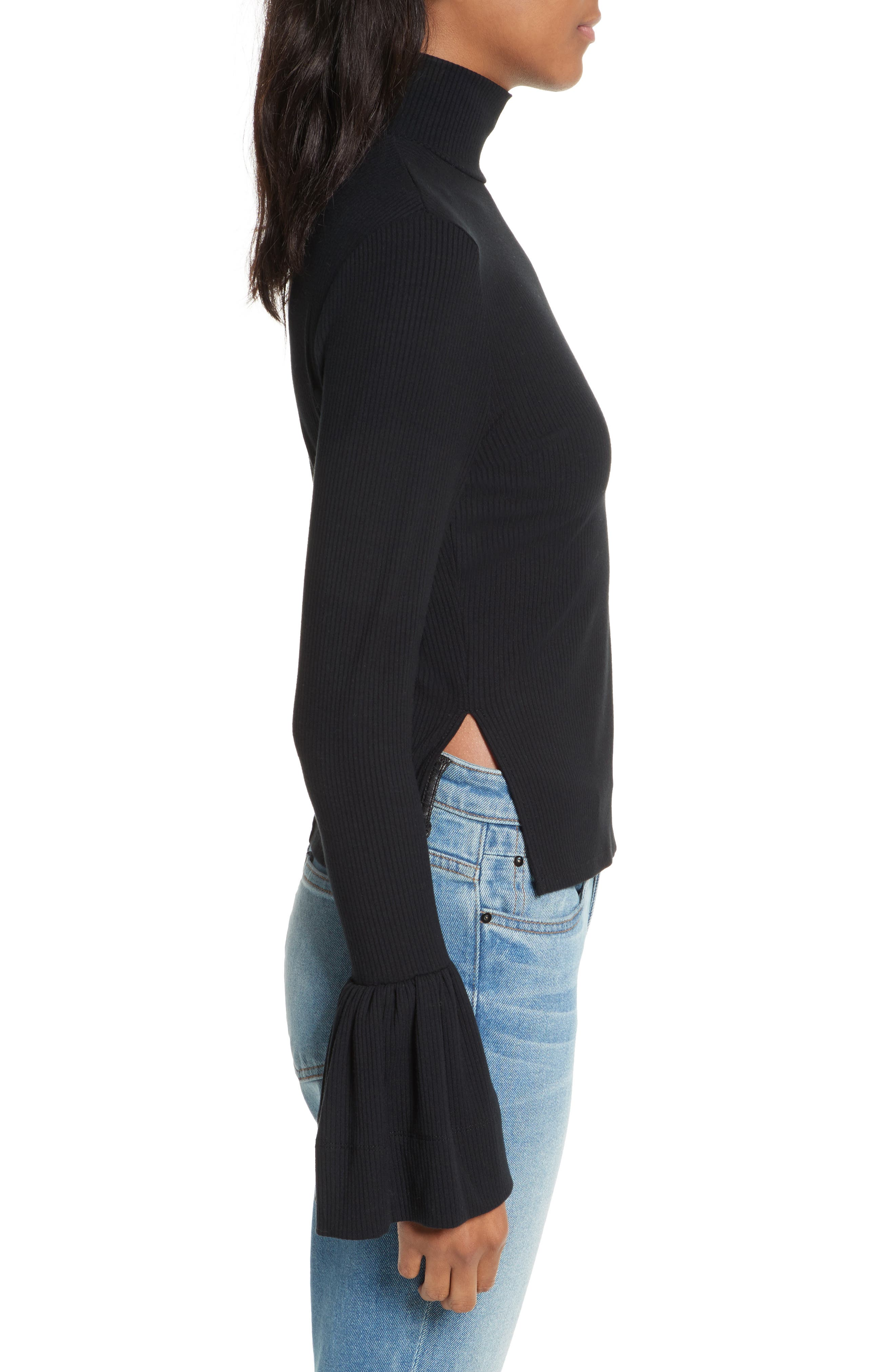 May Bell Sleeve Turtleneck,                             Alternate thumbnail 3, color,