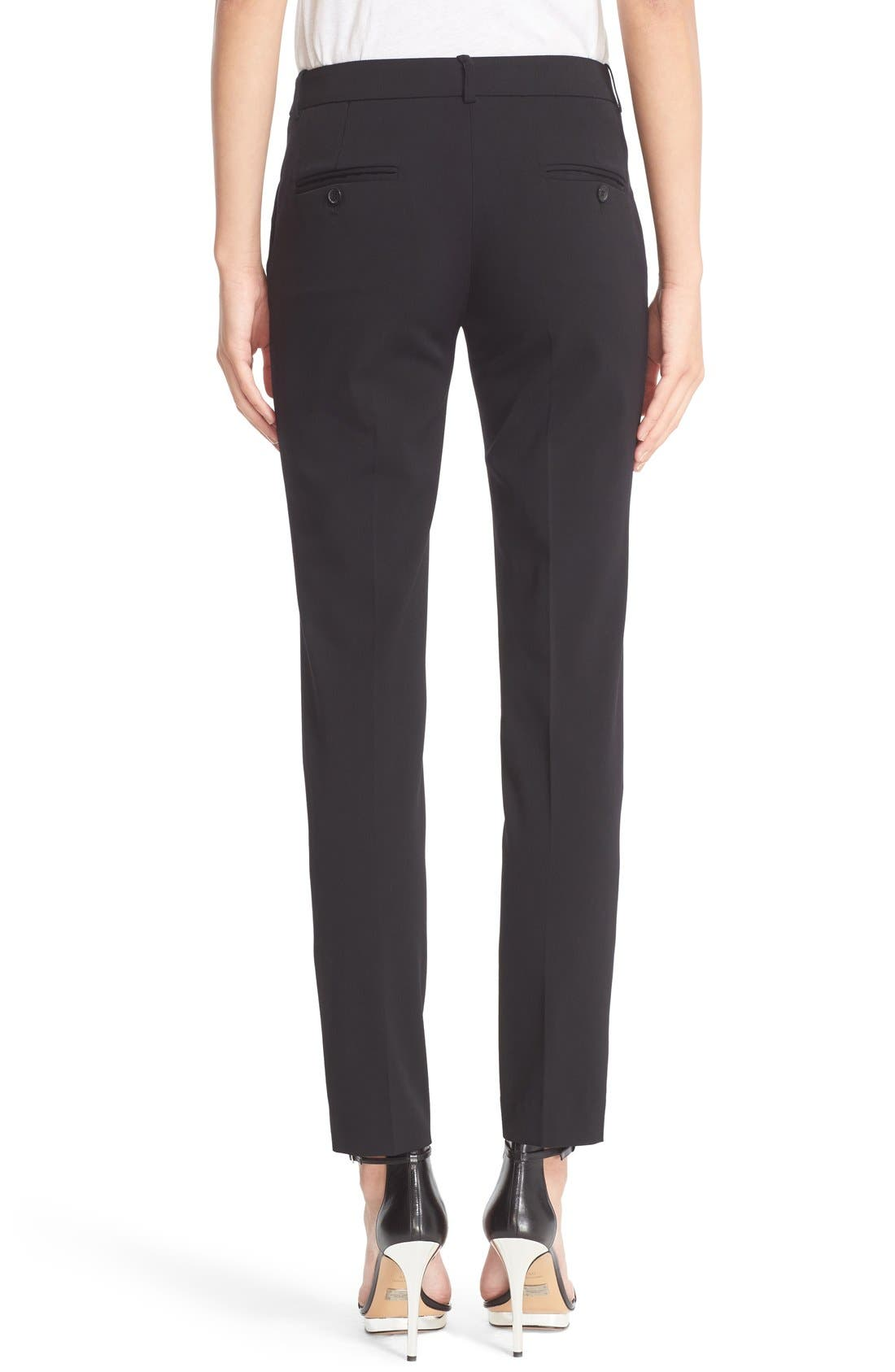 Samantha Straight Leg Pants,                             Alternate thumbnail 3, color,                             BLACK