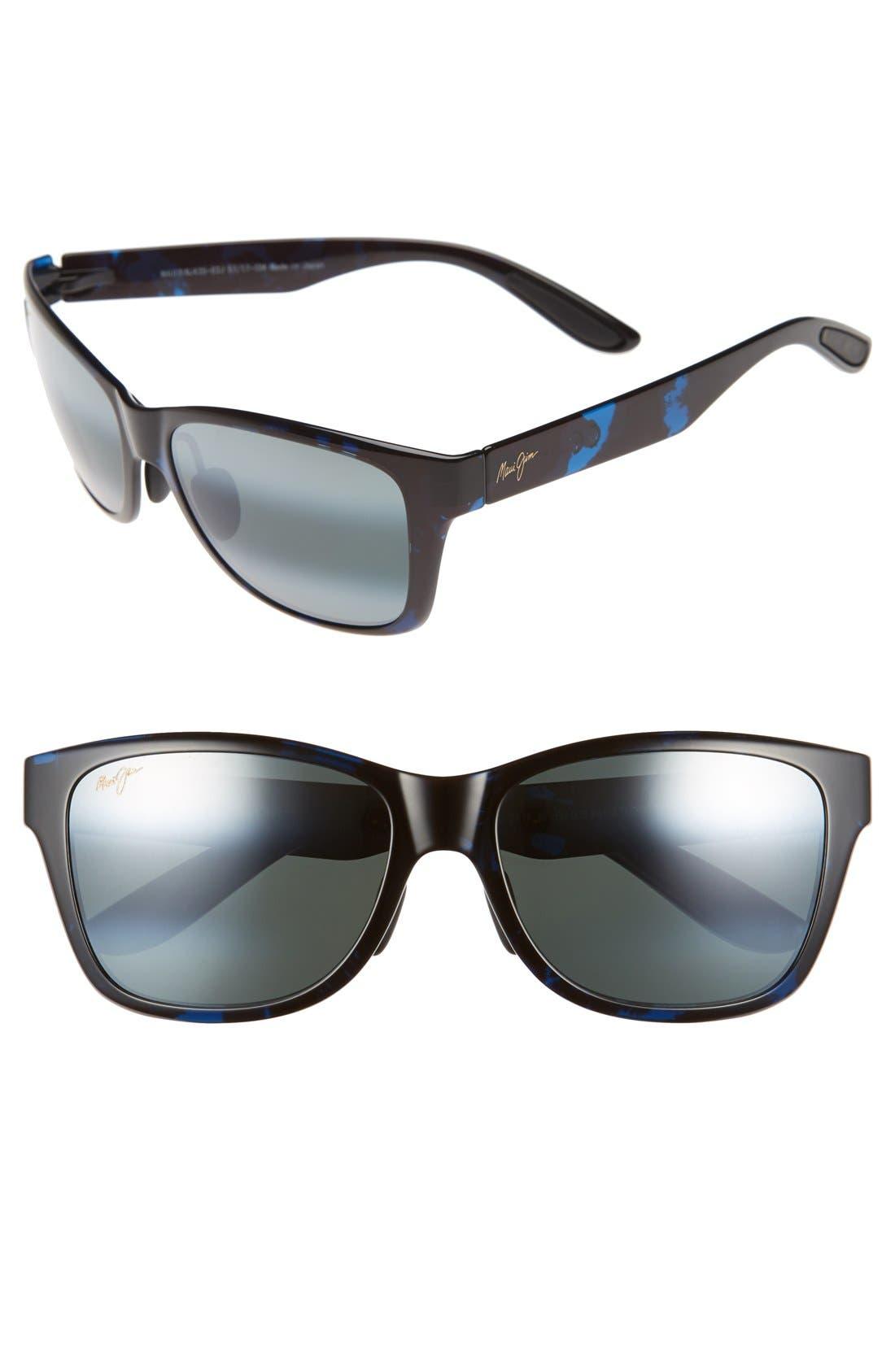'Road Trip' 57mm Polarized Sunglasses,                             Main thumbnail 1, color,                             BLUE AND BLACK TORTOISE/GREY