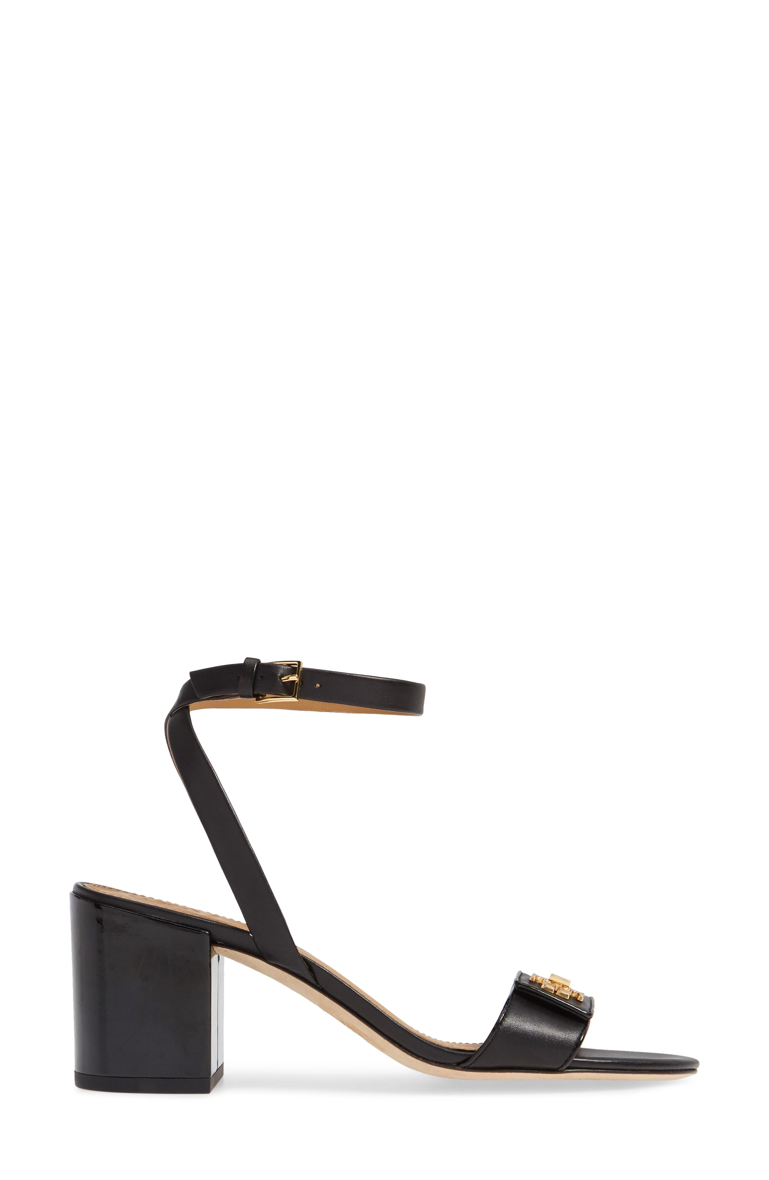Kira Block Heel Sandal,                             Alternate thumbnail 3, color,                             PERFECT BLACK/ PERFECT BLACK
