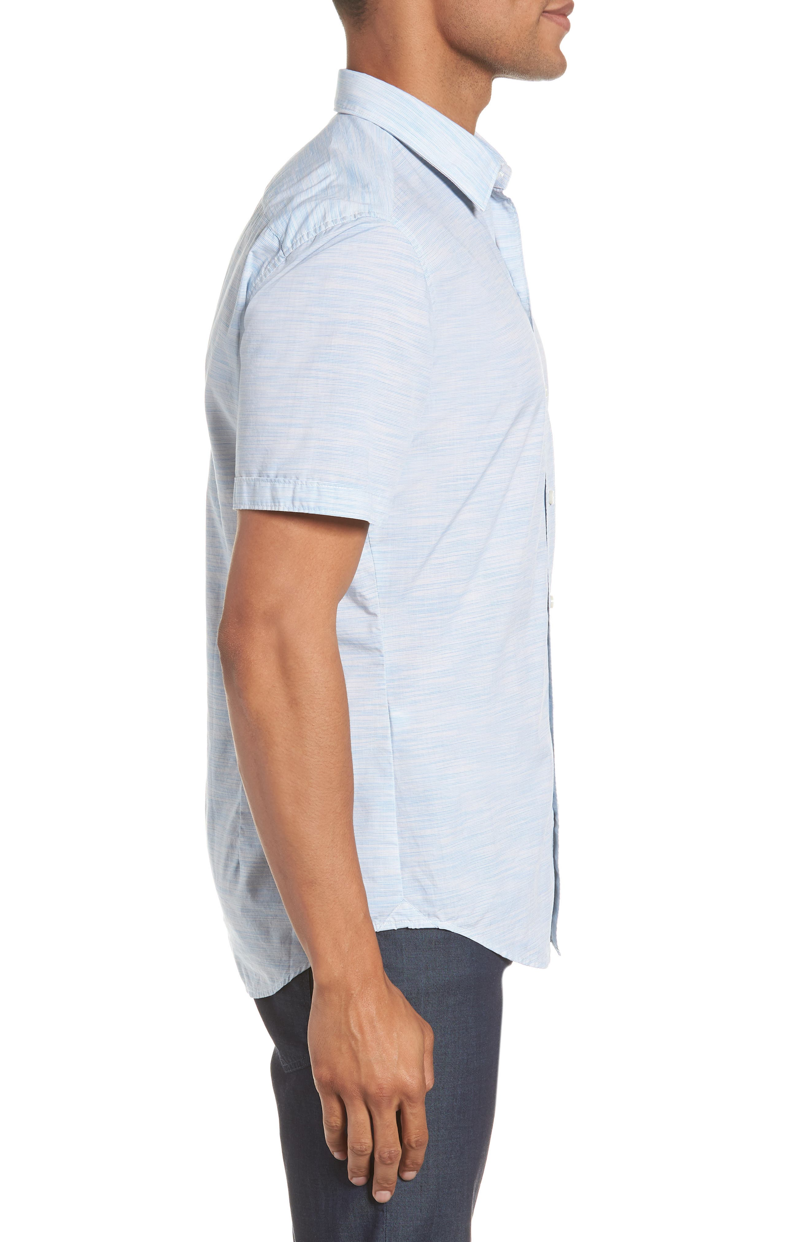 Space Dyed Trim Fit Sport Shirt,                             Alternate thumbnail 4, color,                             470