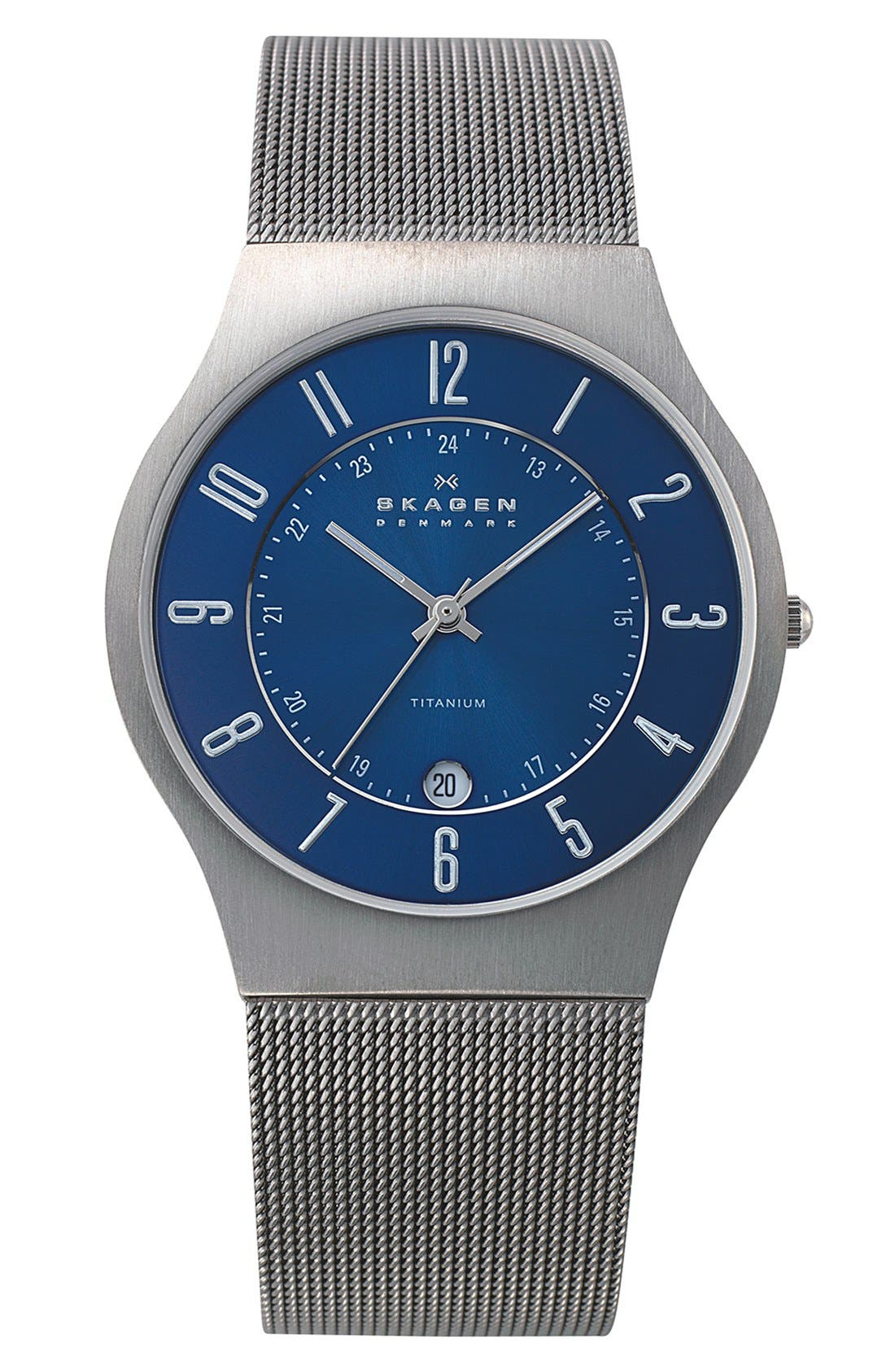 'Grenen' Titanium Case Watch,                             Main thumbnail 8, color,