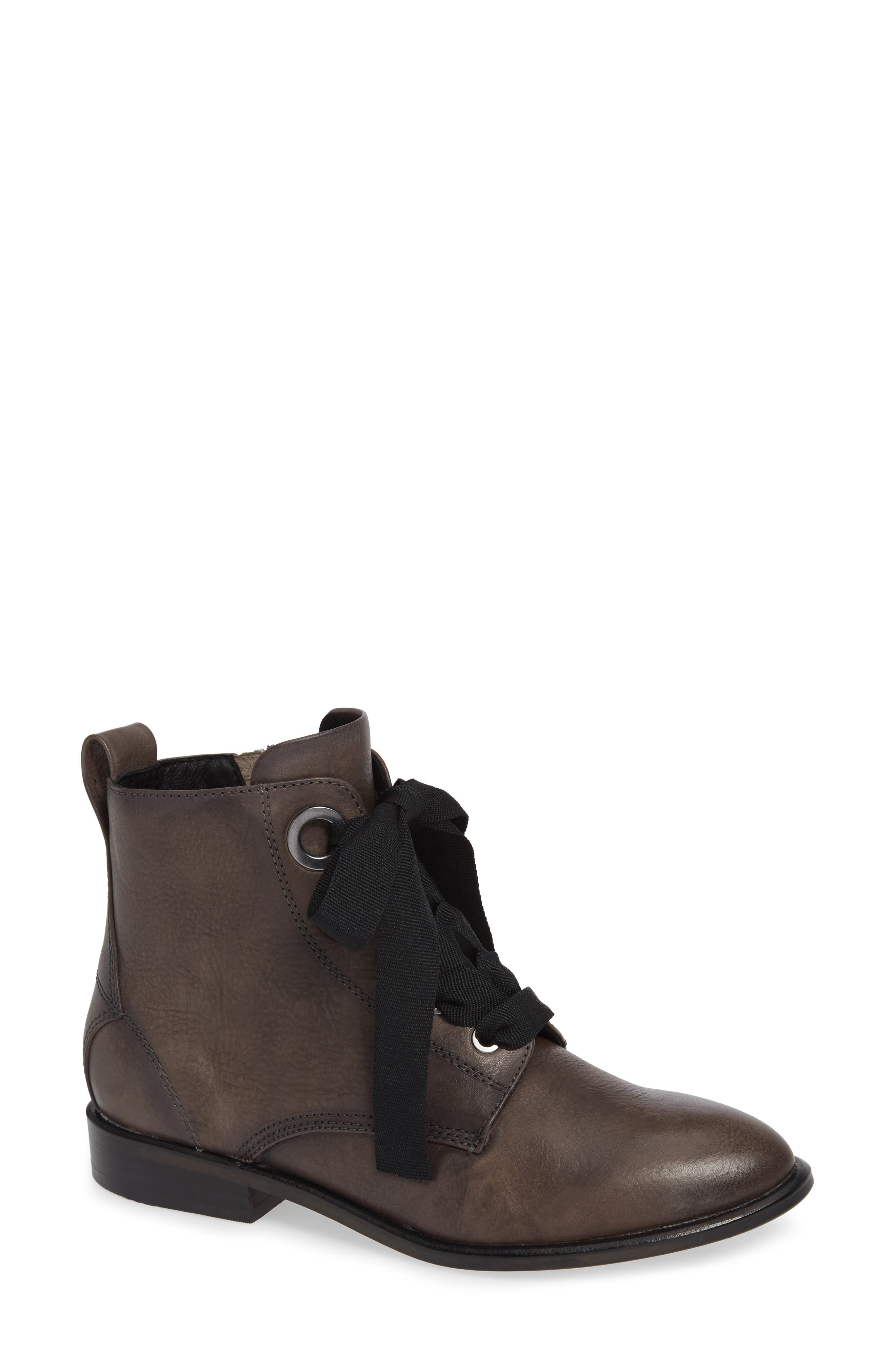 Tocina Bootie,                             Main thumbnail 1, color,                             PAVEMENT LEATHER