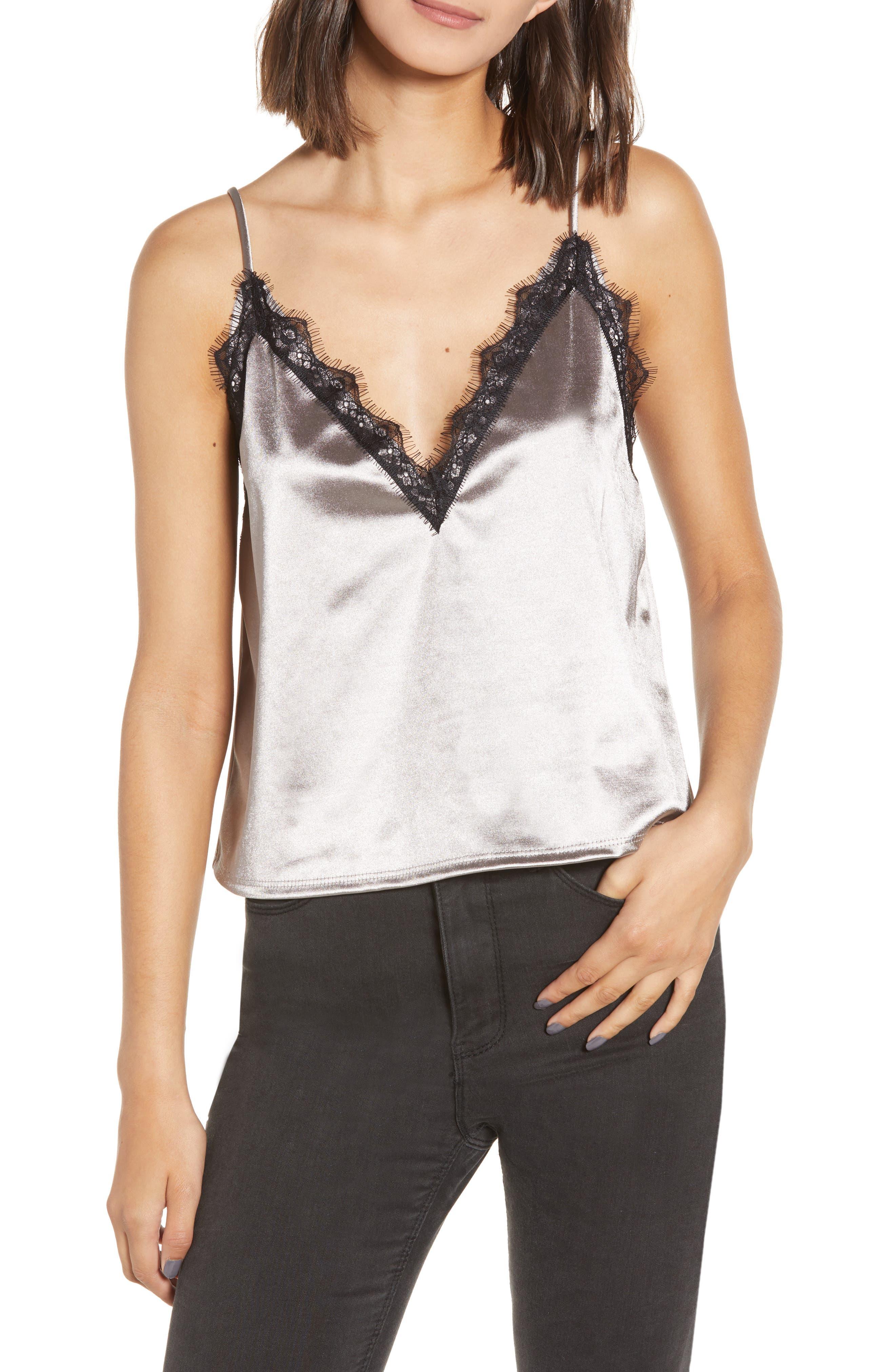 Leith Lace Trim Camisole, Metallic