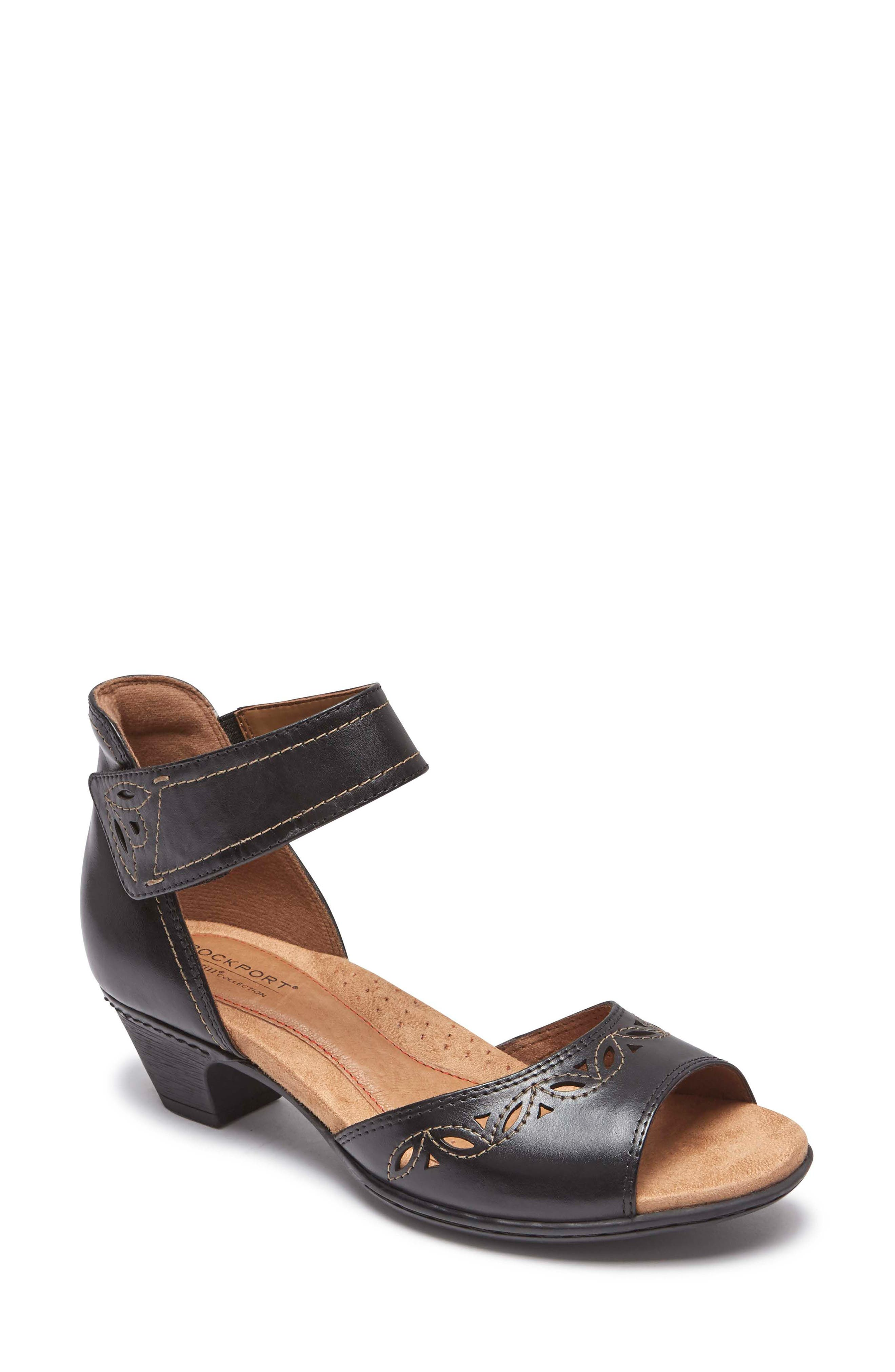 Abbott Perforated Sandal,                         Main,                         color,