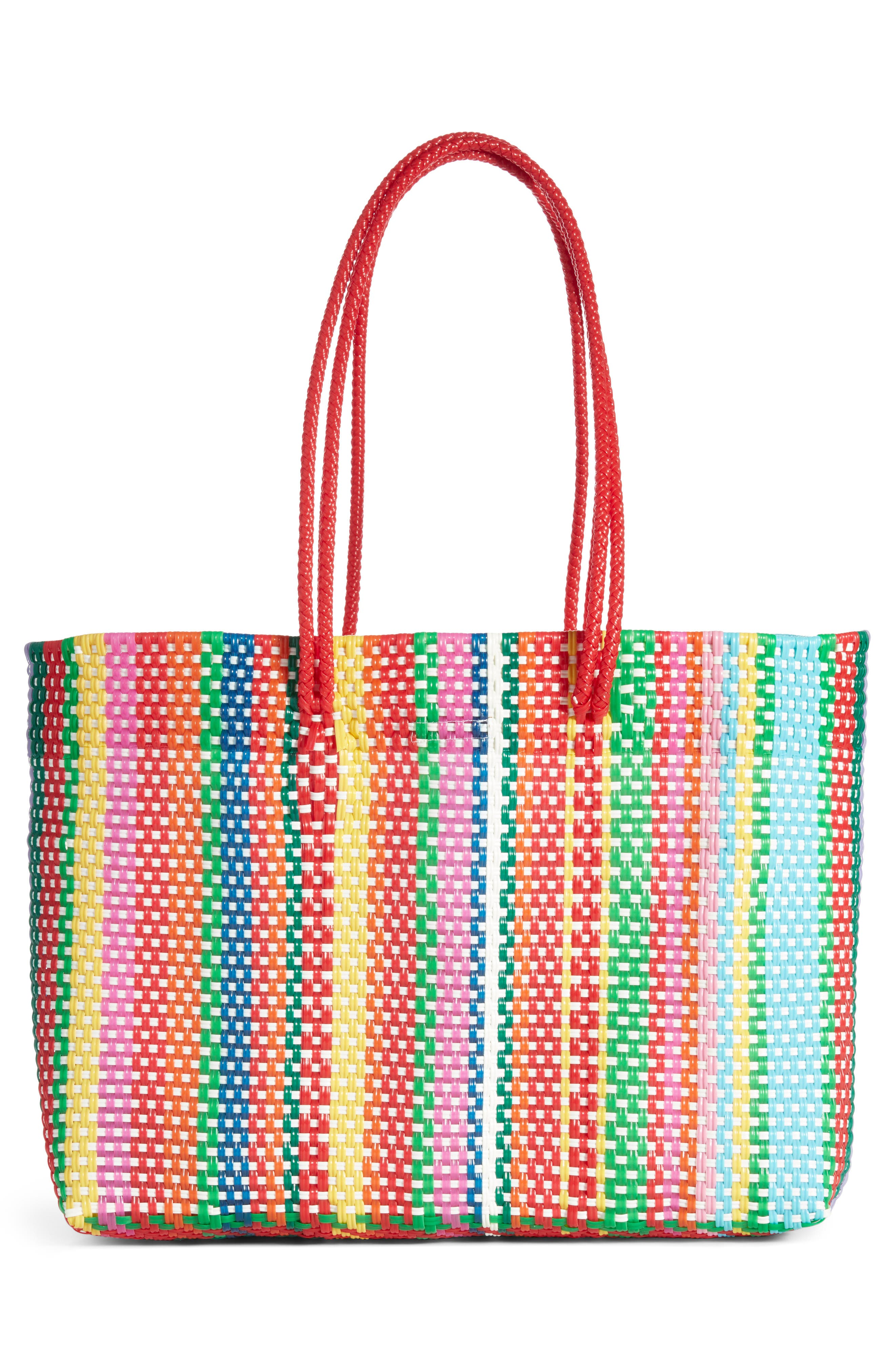 Large Stella Long Handle Tote,                             Alternate thumbnail 3, color,                             MULTI