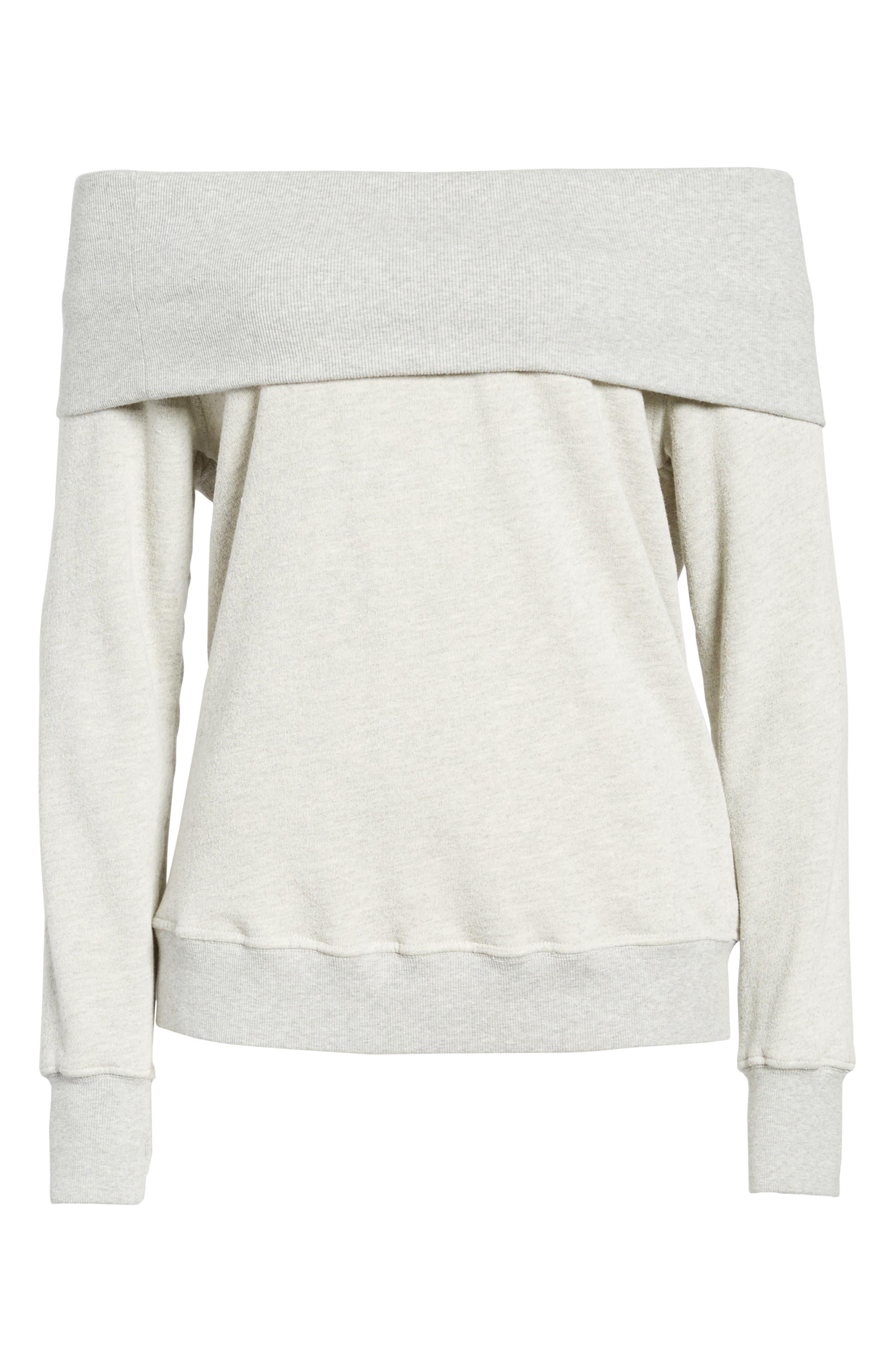 Off the Shoulder Sweatshirt,                             Alternate thumbnail 6, color,                             031