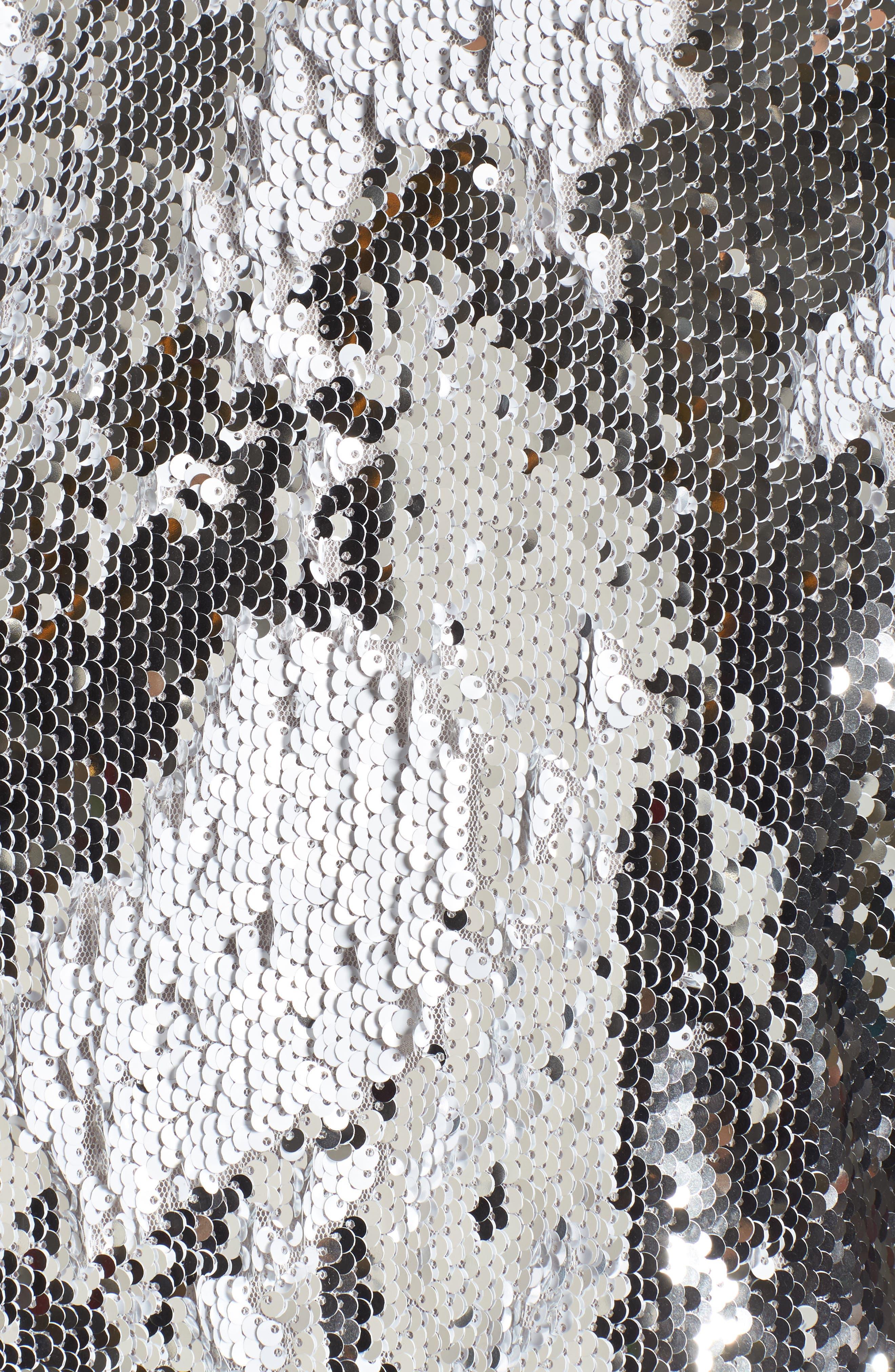 Raine Sequin Crop Top,                             Alternate thumbnail 5, color,                             040