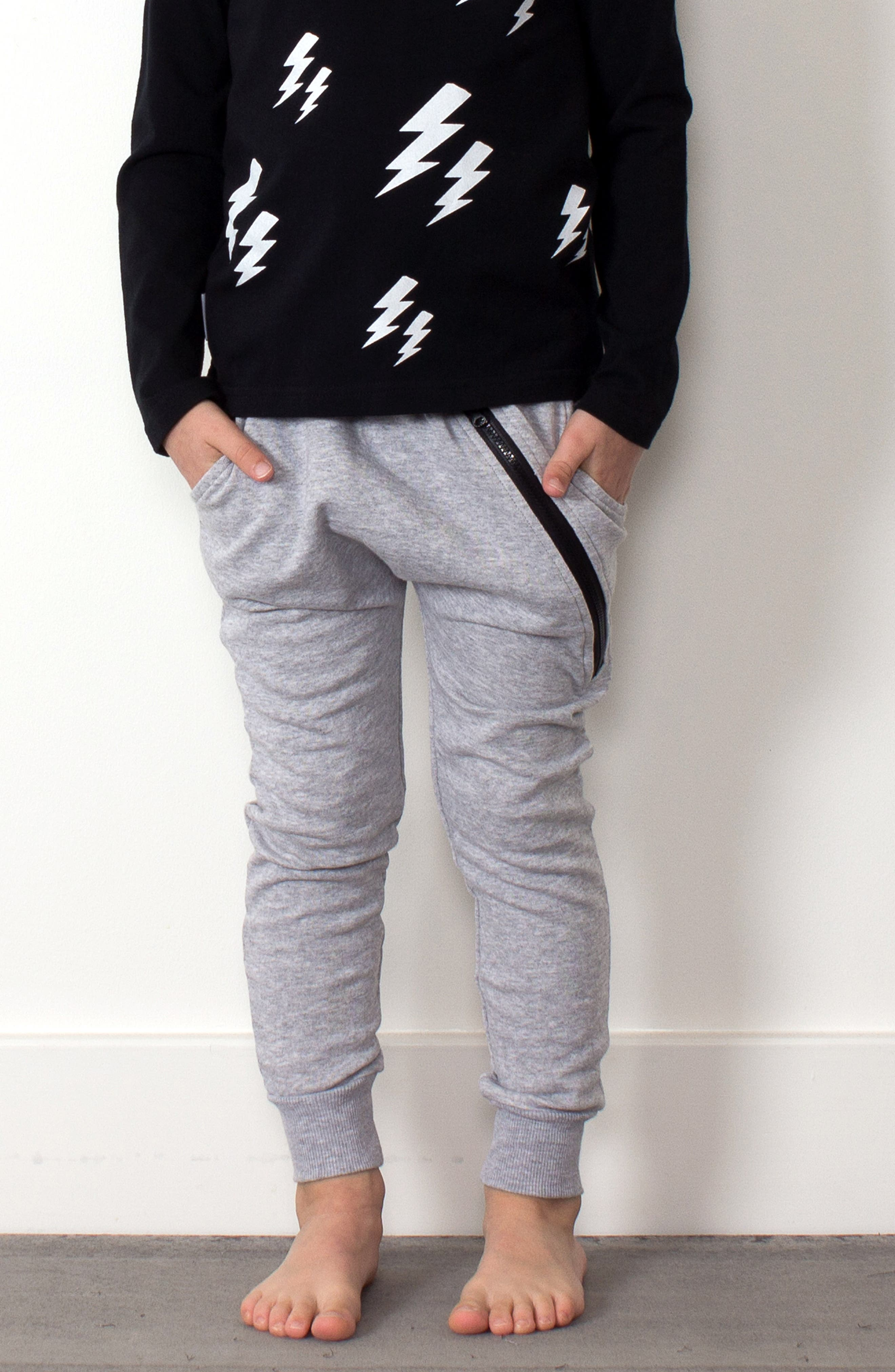Zip Sweatpants,                             Alternate thumbnail 4, color,                             GREY MARL