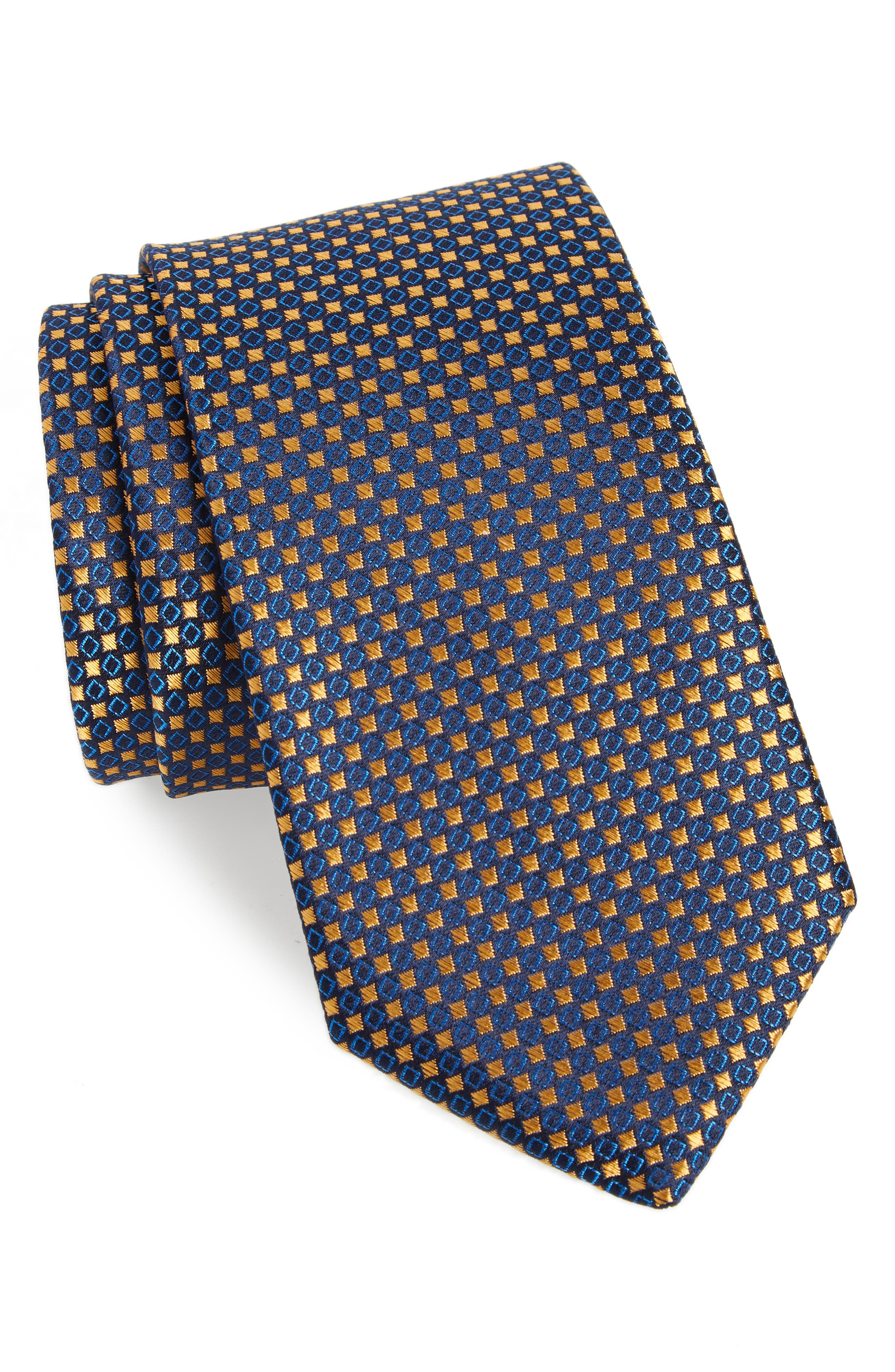 Chad Microdot Silk Tie,                             Main thumbnail 3, color,