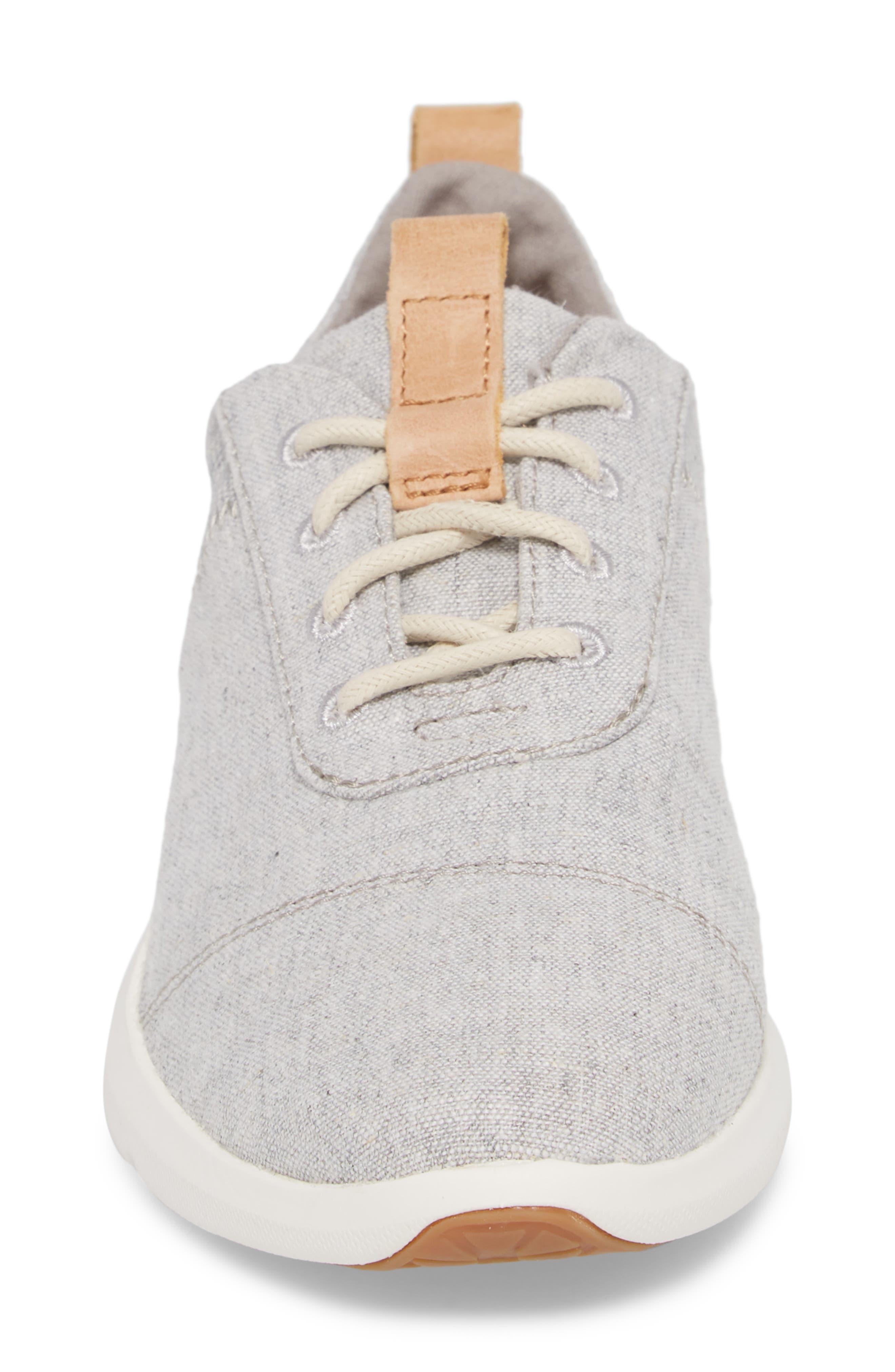 Cabrillo Sneaker,                             Alternate thumbnail 4, color,                             DRIZZLE GREY CHAMBRAY MIX